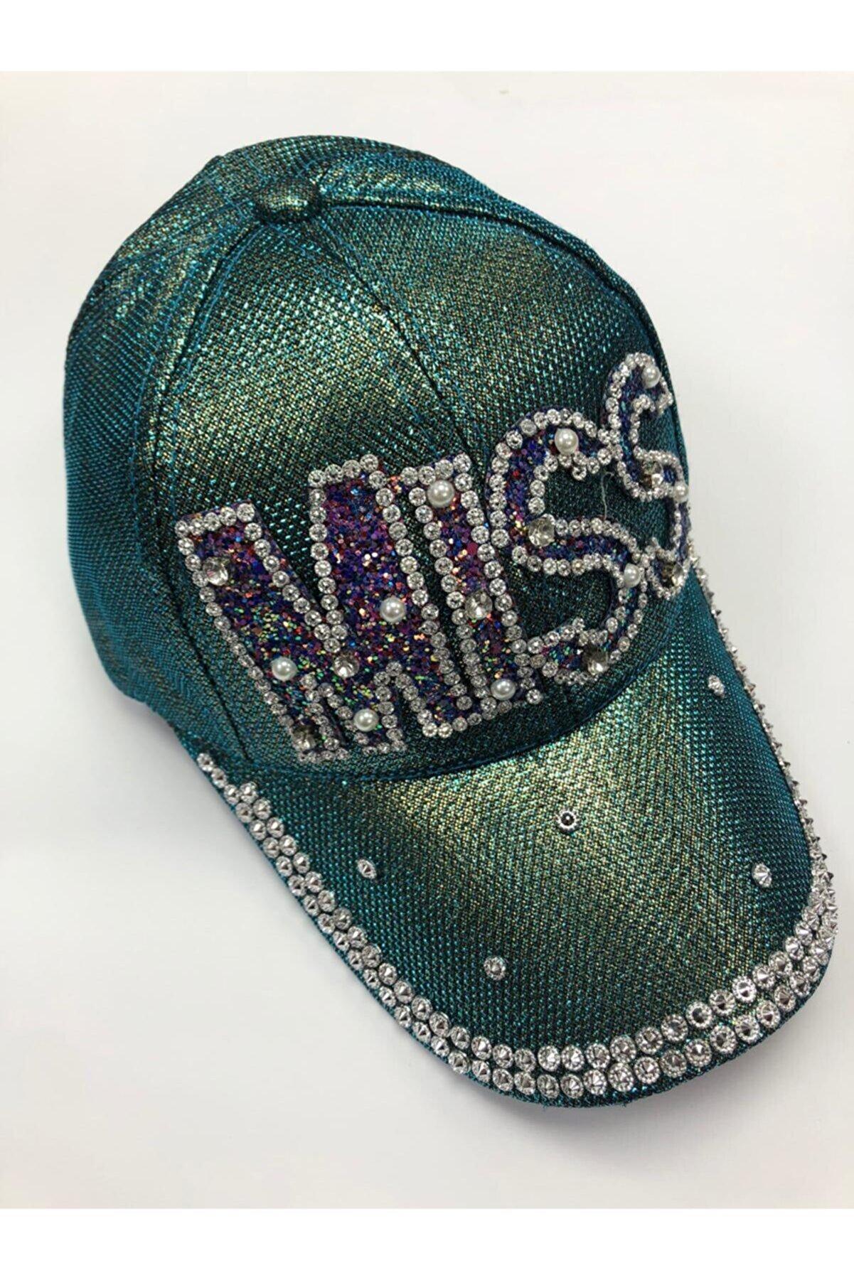 SYT Kadın Yeşil Taşlı Şapka