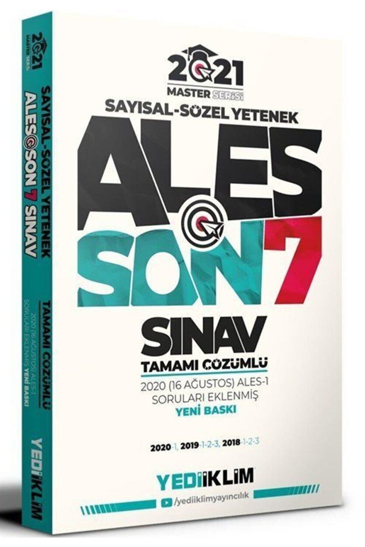 Yediiklim Yayınları Ales Master Çıkmış Sorular Son 7 Sınav Çözümlü
