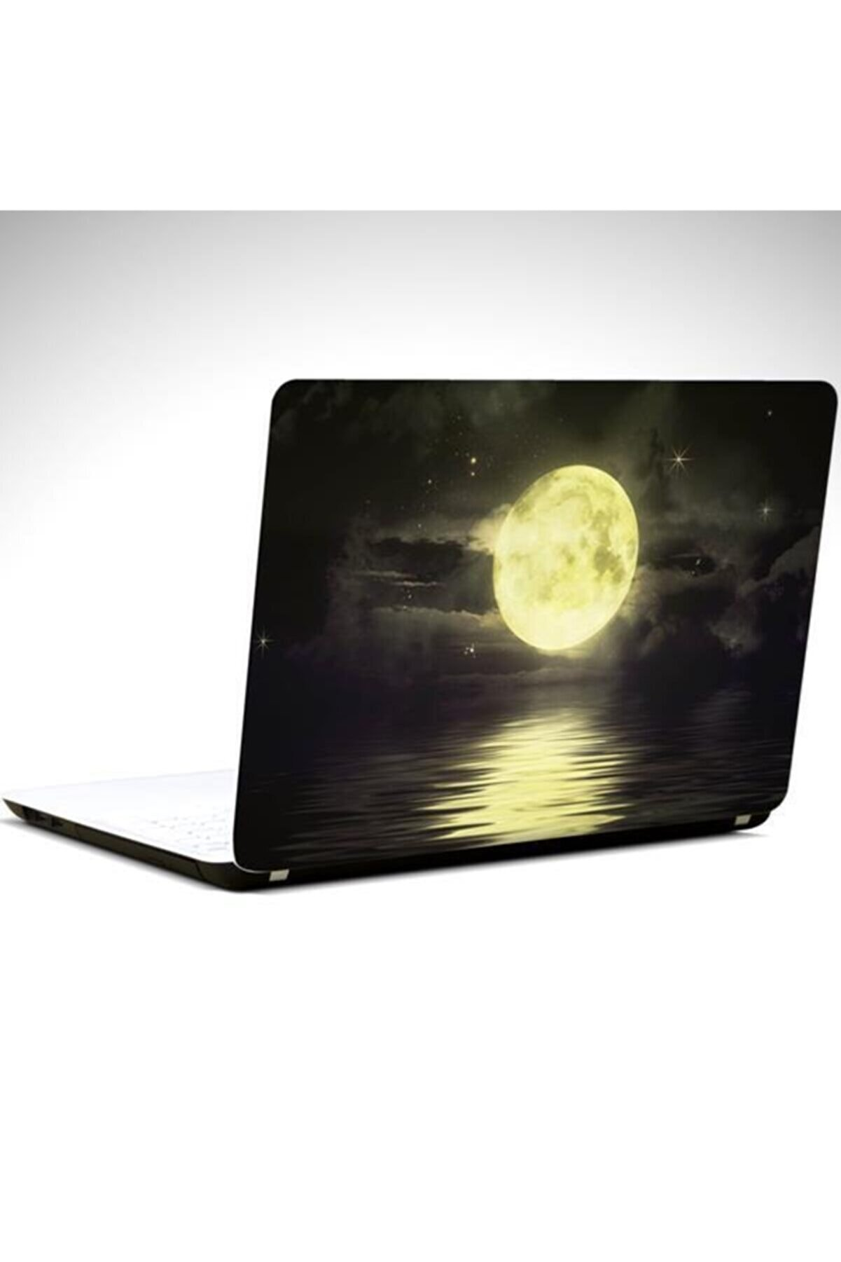 Dekolata Ay Ve Yıldızlar Laptop Sticker Laptop 13 İnçh 34x24 cm