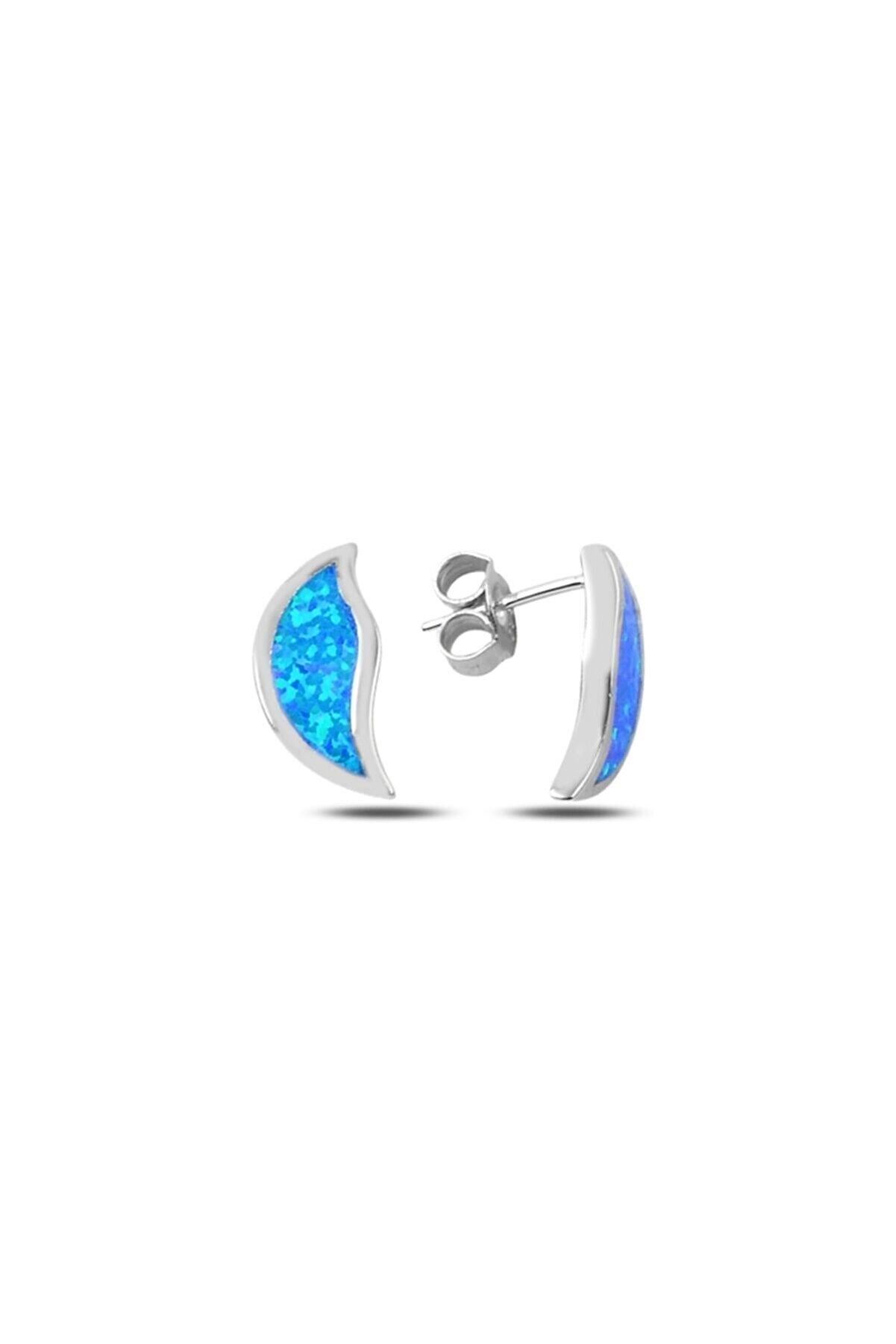 Zuk Collection Gümüş Opal Taşlı Küpe