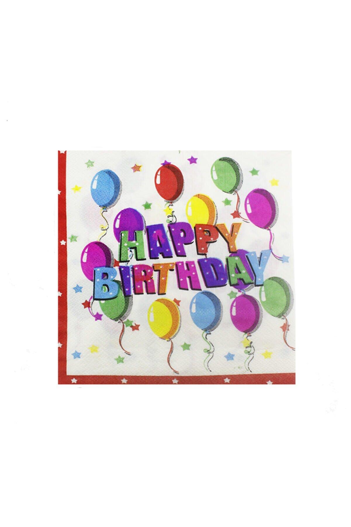 mutlu adım 20 Adet 33cm Kağıt Peçete Iyi Ki Doğdun Happy Birthday