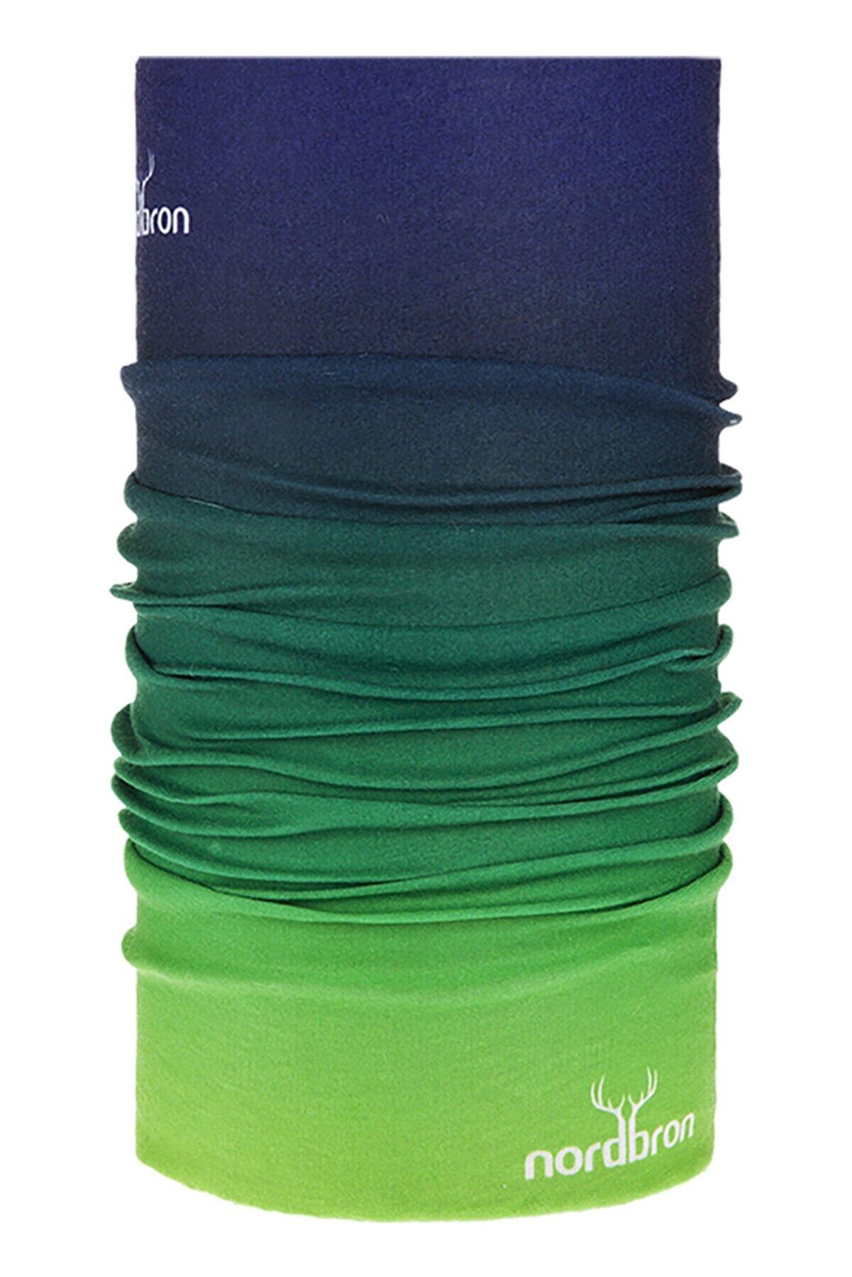 Nordbron Dip Dyed - Classic Green Bandana Maske Yüz ve Kafa Bandı Balaklava Boyunluk Dikişsiz