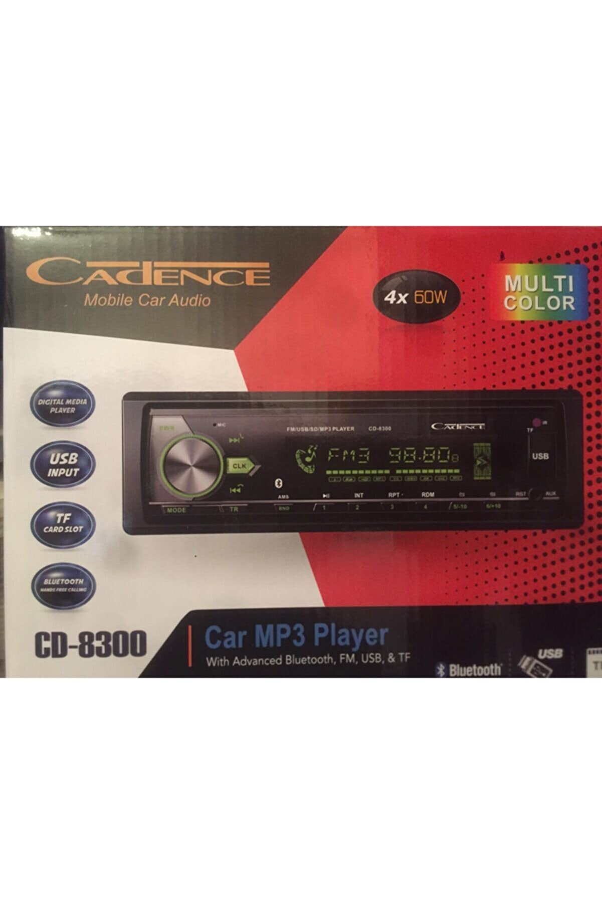 Cadence Boya Bluetoothlu Oto Teyp Teyip Cd8300
