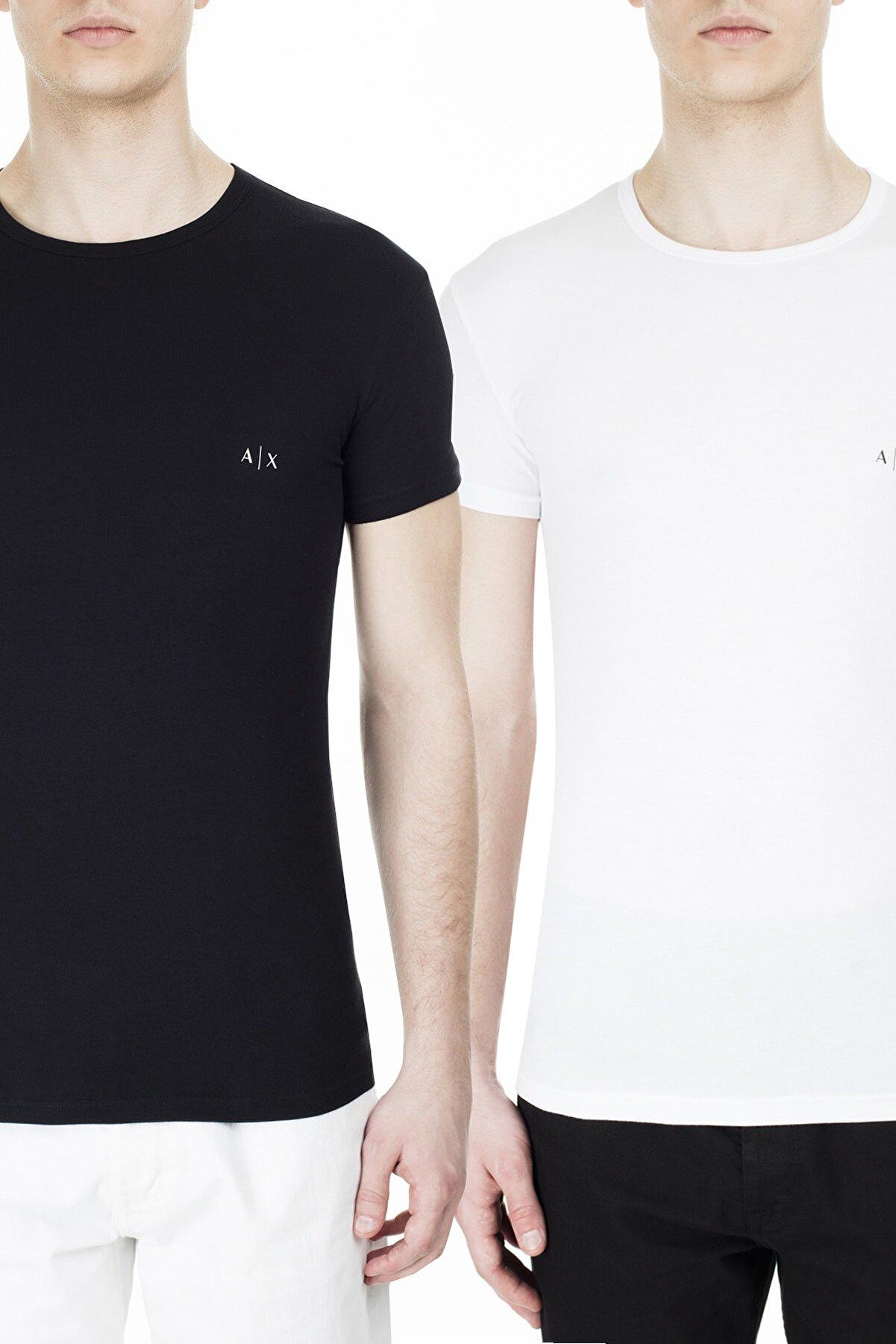 Armani Exchange Erkek Siyah Beyaz 2'li T Shirt 956005 Cc282 42520