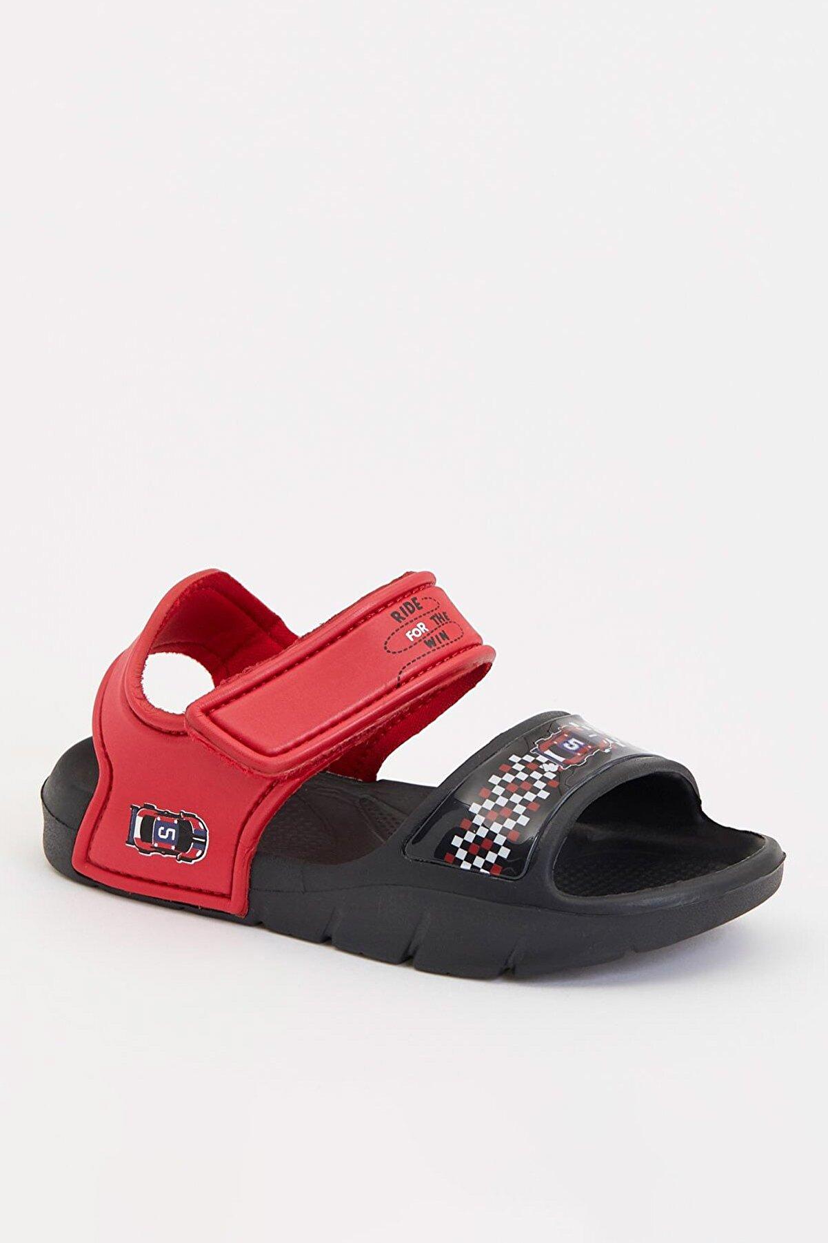 Defacto Erkek Çocuk Araba Baskılı Sandalet