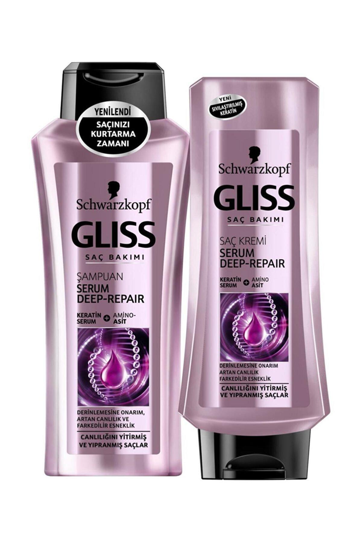 Gliss 360ml Serum Deep Repair Şampuan + 360ml Serum Deep Repair Saç Kremi Set