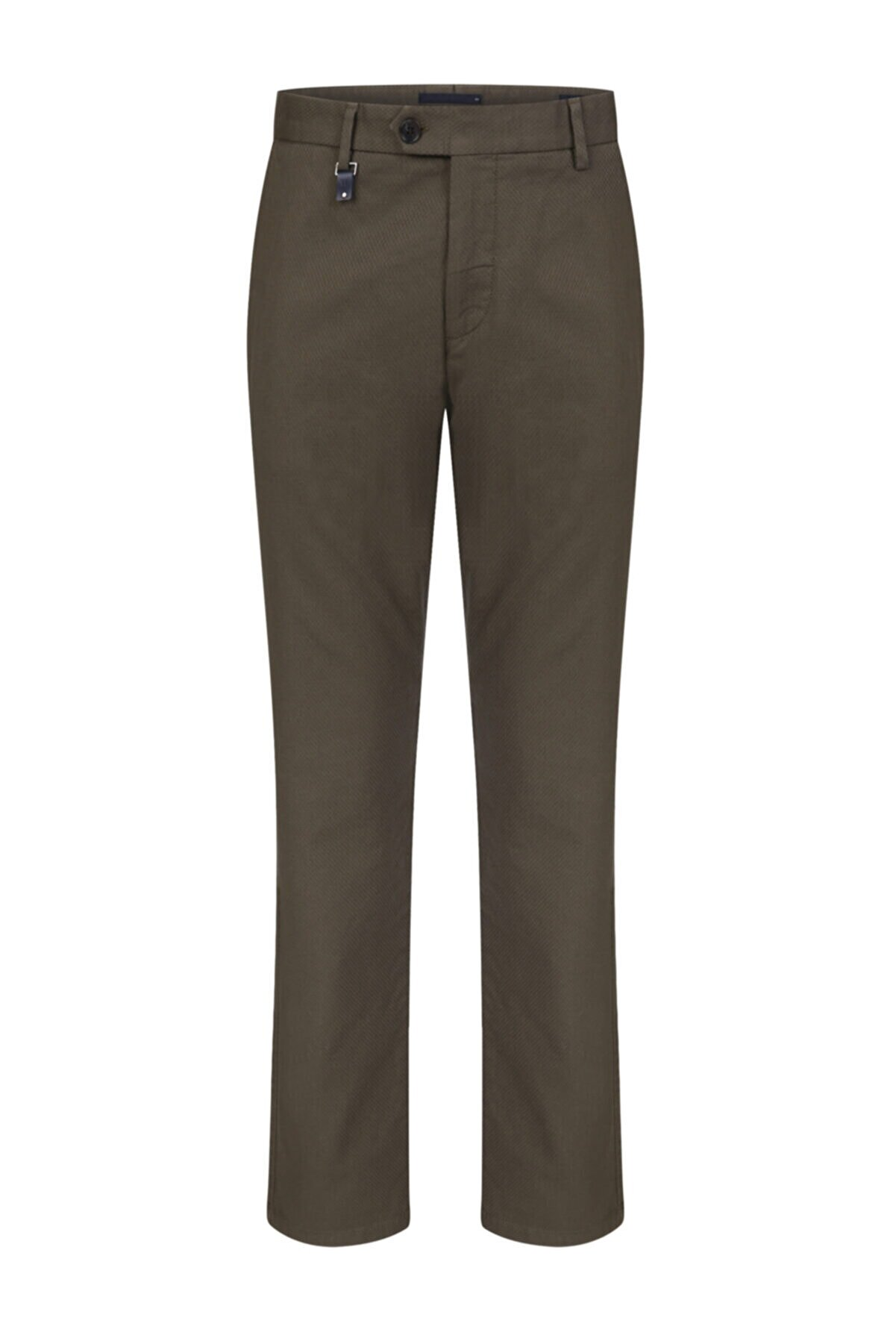 W Collection Yeşil Mıcro Desen Chıno Pantolon