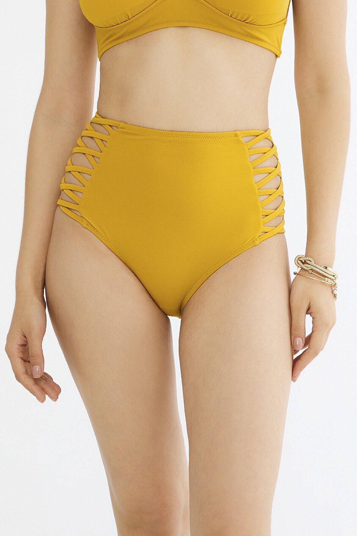 Penti Yağ Yeşili Basic Yüksek Bel Fashion Bikini Altı