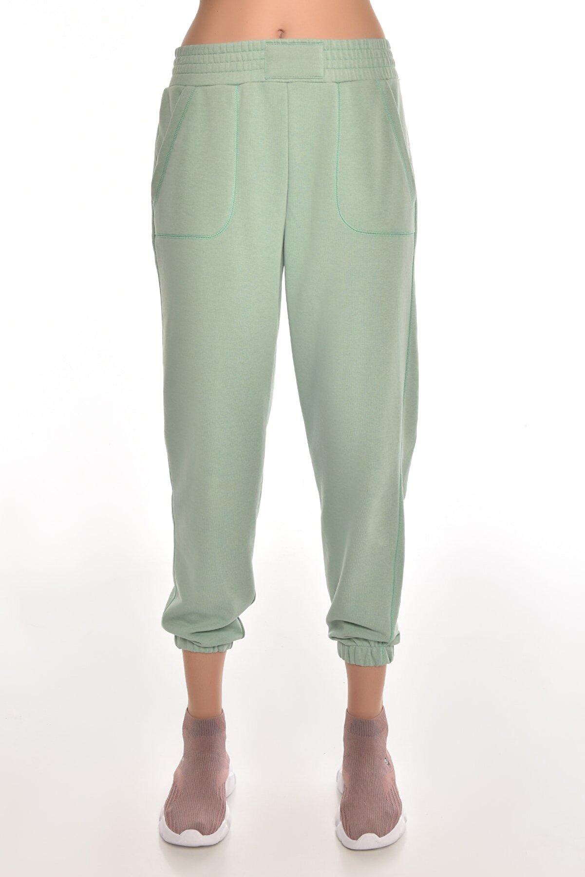 bilcee A.yeşil Kadın Jogger Eşofman Altı Gw-8999