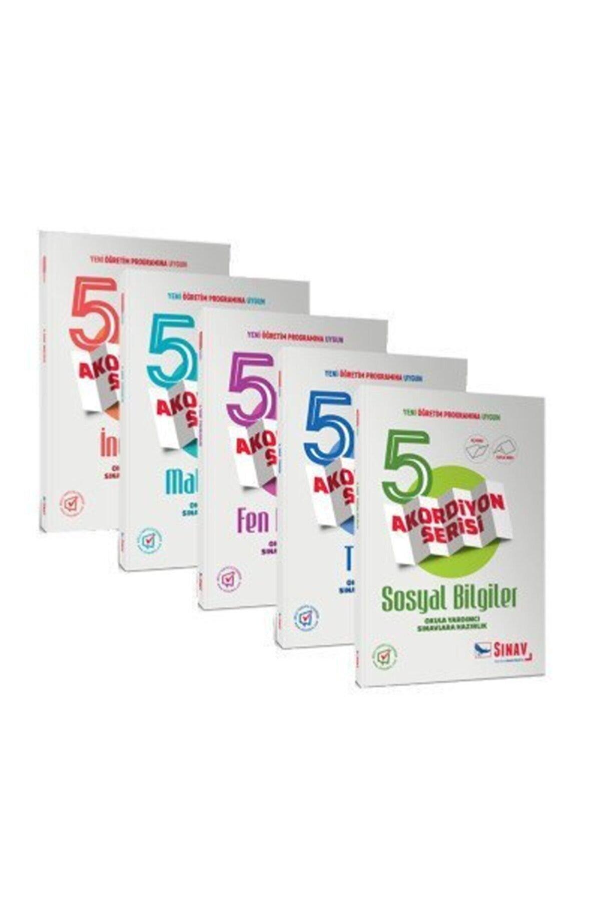 Sınav Yayınları 5. Sınıf Tüm Dersler Konu Anlatımlı Soru Bankası Seti Akordiyon Serisi
