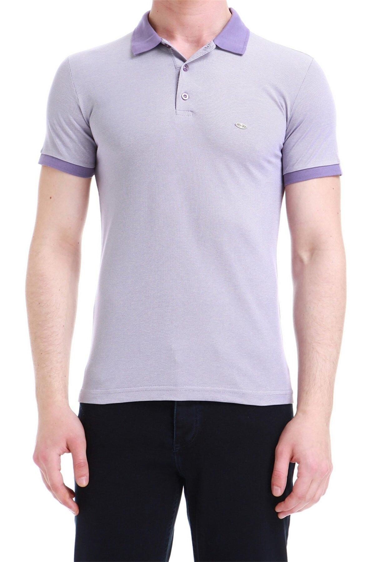 Efor Ts 728 Slim Fit Mor Spor T-shirt