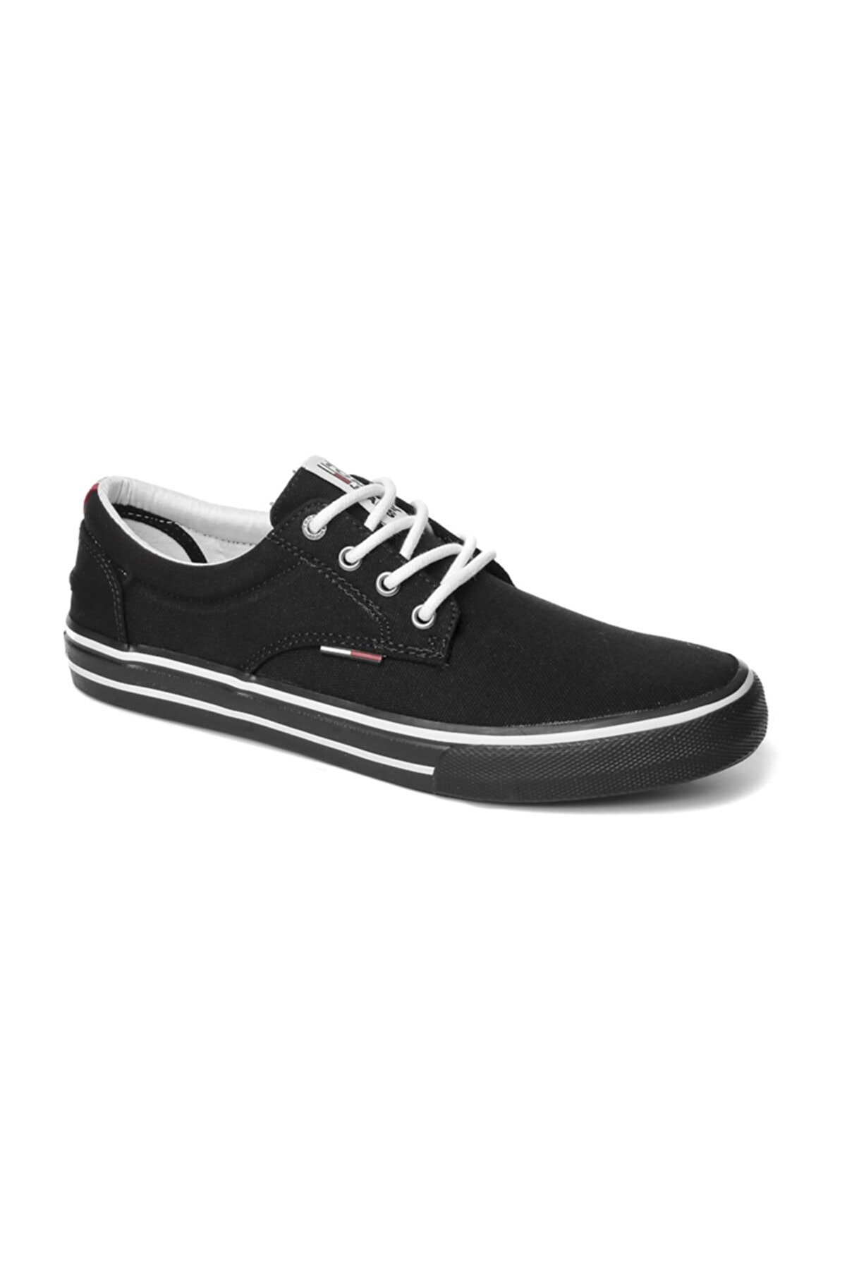 Tommy Hilfiger Erkek Siyah Sneaker Tommy Jeans Textıle Sneaker EM0EM00001