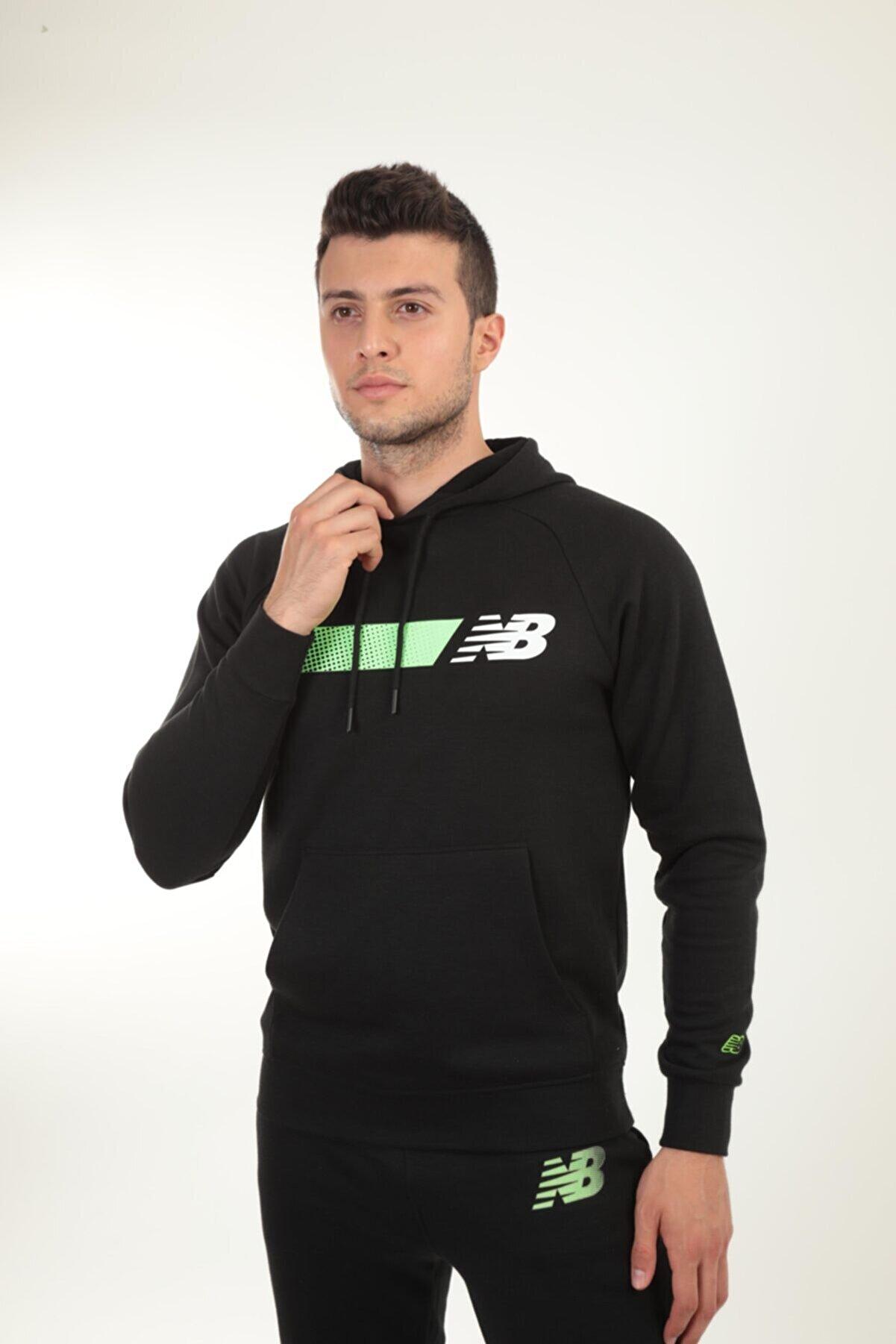 New Balance Erkek Sweatshirt Mph001-bk