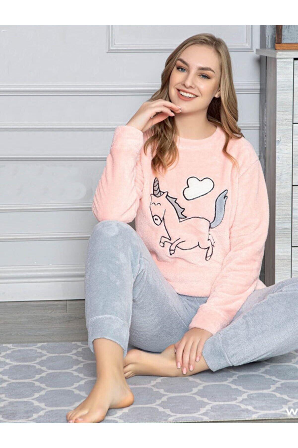 Sude Kadın Polar Pijama Takımı 7083