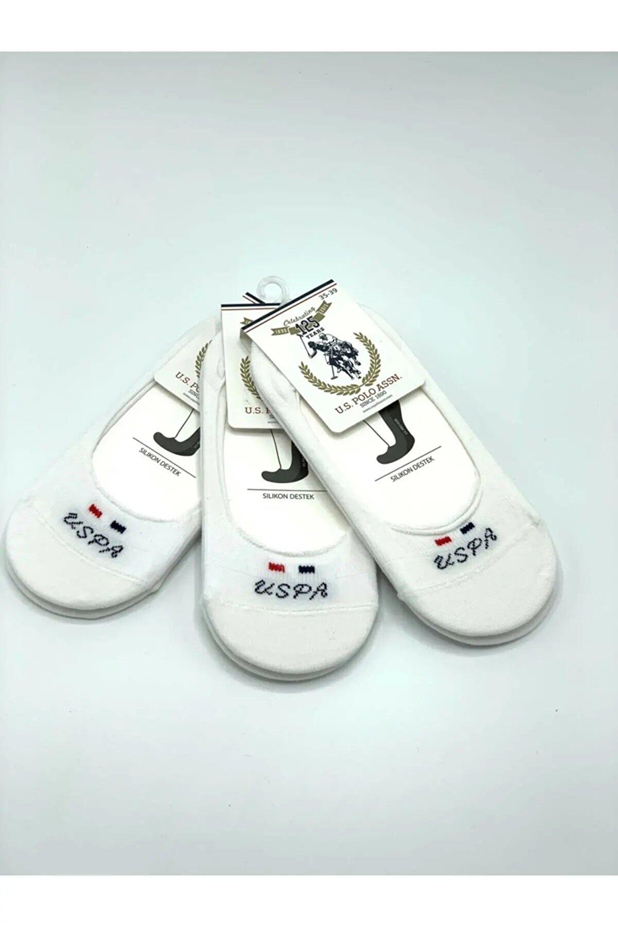 US Polo Assn U.s Polo Assn. Beyaz 6lı Kadın Çorap 9998000007819