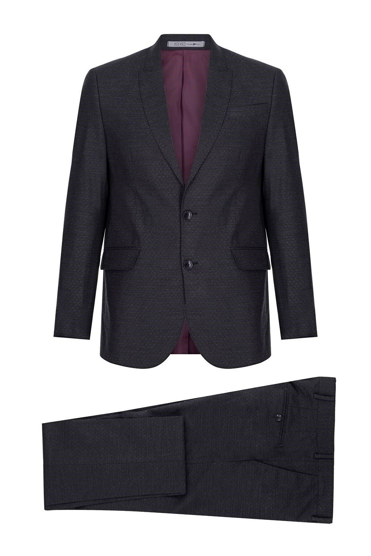 İgs Erkek Lacivert Slım Fıt / Dar Kalıp Ince Kırlangıç Takım Elbise