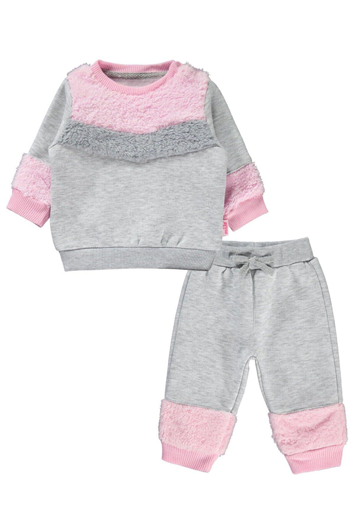 Kujju Kız Bebek Takım 6-18 Ay Karmelanj