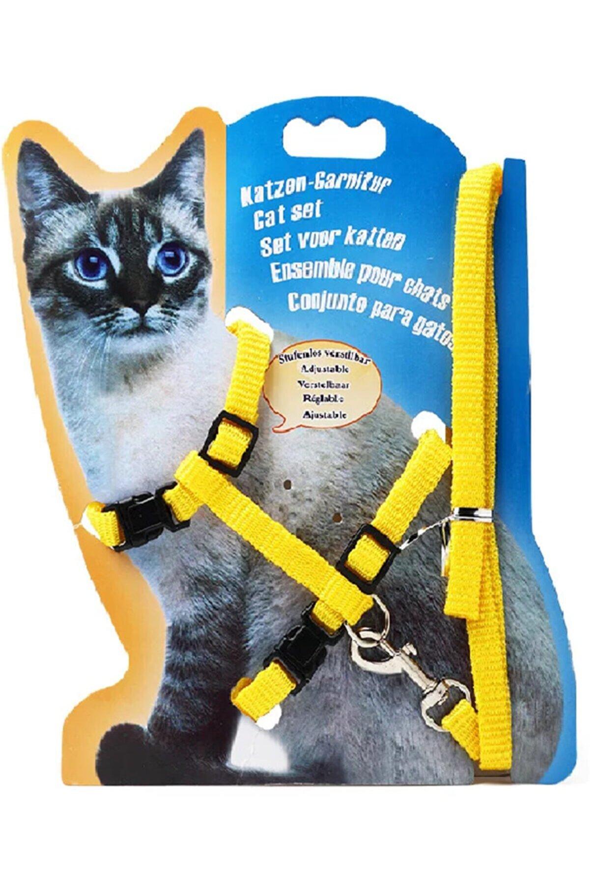 MUCA Kedi Göğüs Tasması Ve Gezdirme Seti No:116