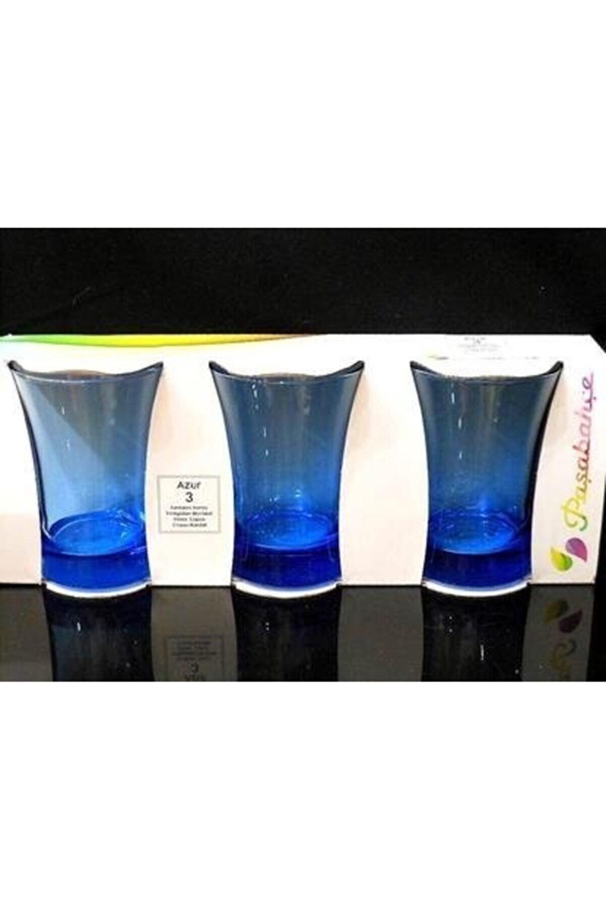 Paşabahçe Azur Mavi Su Bardağı 210 cc 3'lü 420013