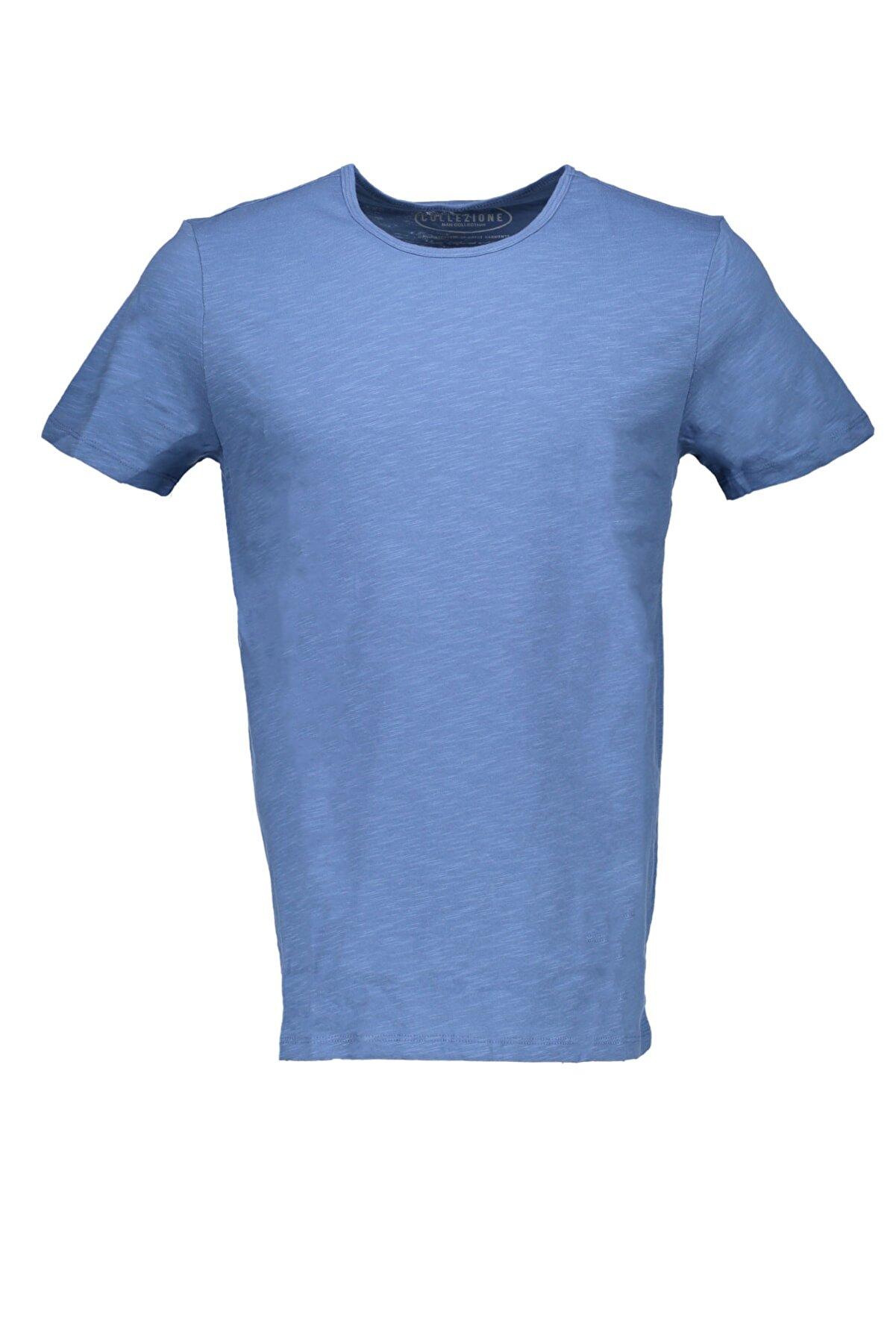 Collezione Indigo Erkek Somon Spor Regular Kısa Kol T-shirt