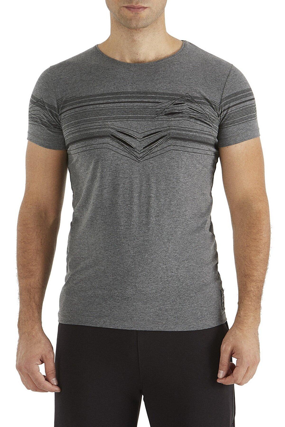 Efor Ts 726 Slim Fit Gri Spor T-shirt