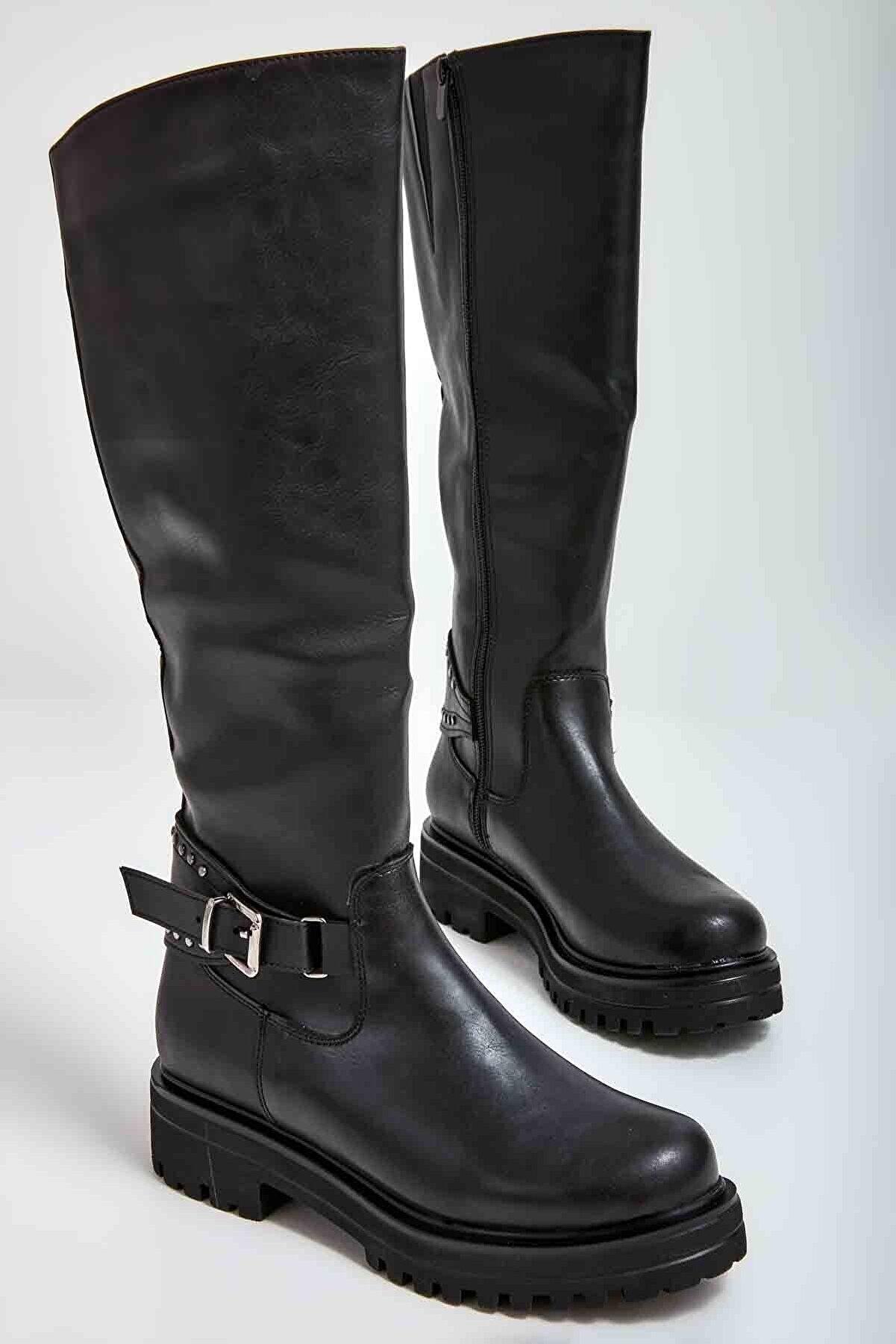 Bambi Siyah Kadın Çizme M0538003709