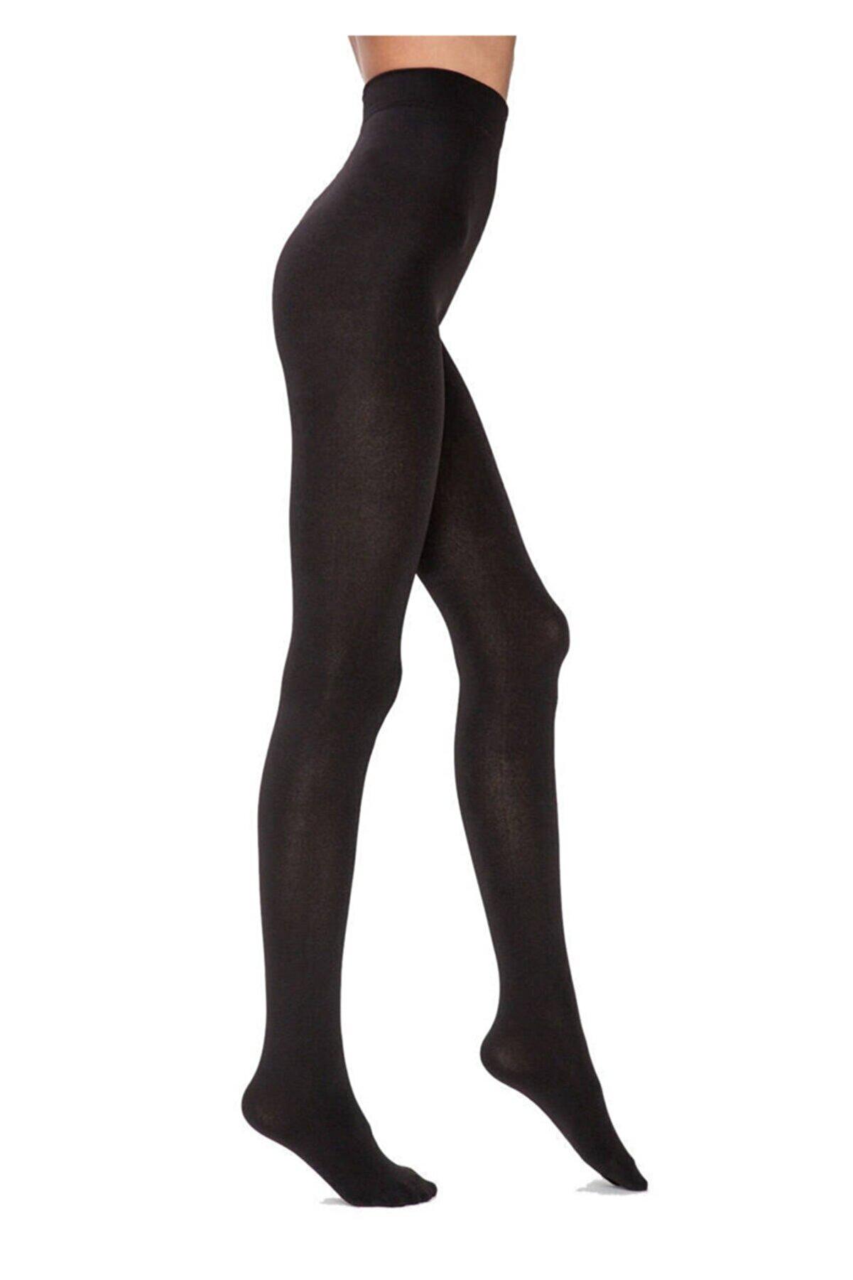 Penti Kadın Siyah Termal Yüksek Bel Siyah Külotlu Çorap
