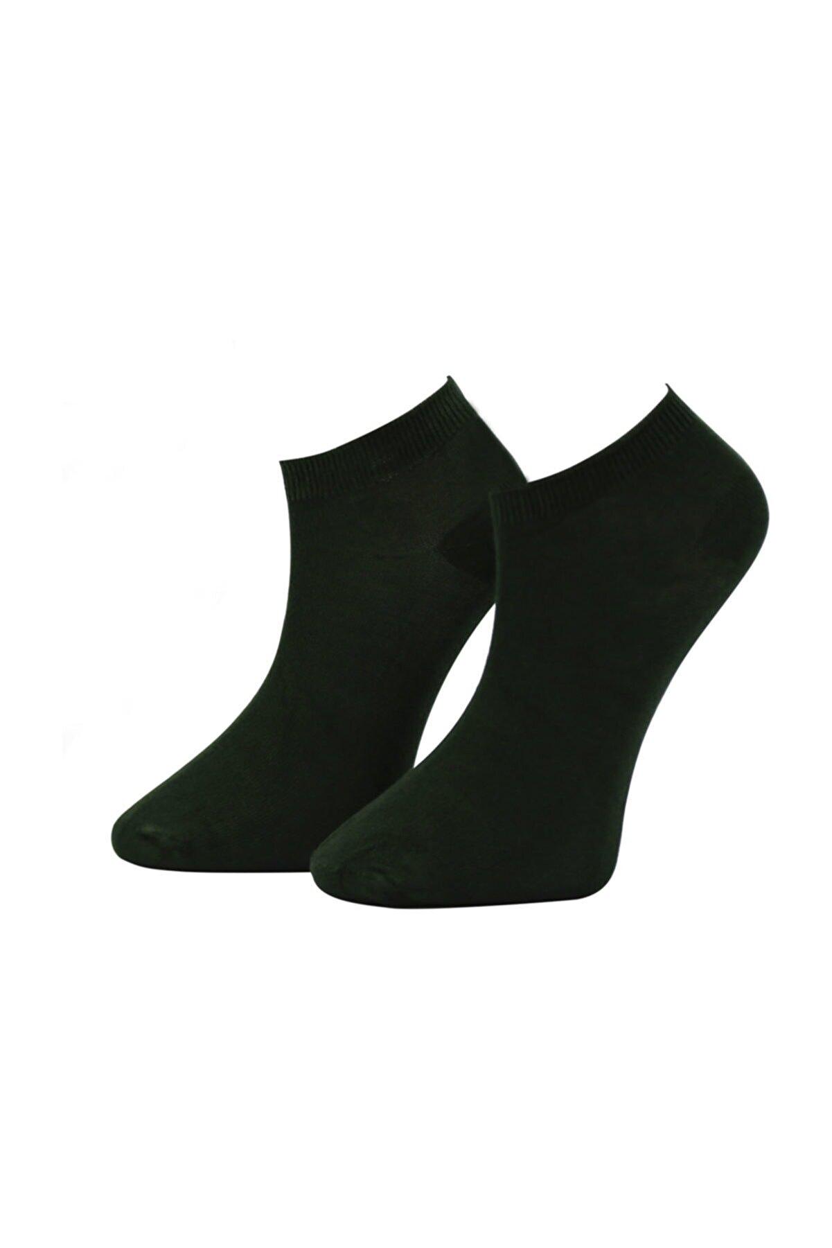 ADABELLA Kadın Siyah Bambu Dikişsiz Soket Kısa Çorap 12 Çift