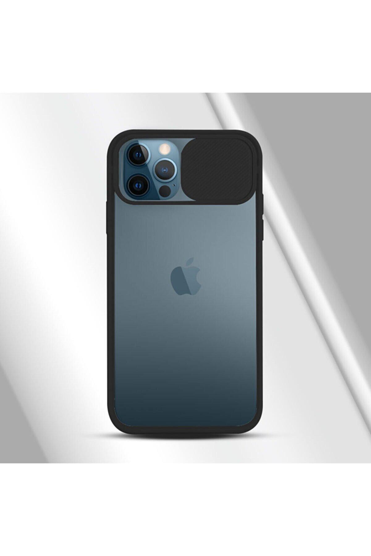 coverest Uyumlu  12 Pro 6.1'' Kamera Lens Korumalı Sürgülü Kılıf