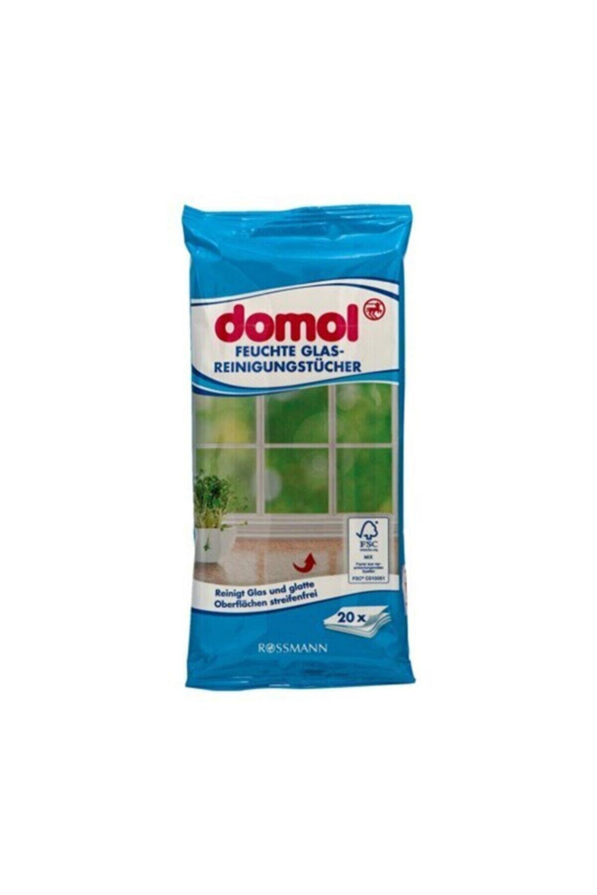 Domol 2 X Cam Ve Parlak Yüzeyler Için Tuvalet Islak Temizlik Bezi Mendil