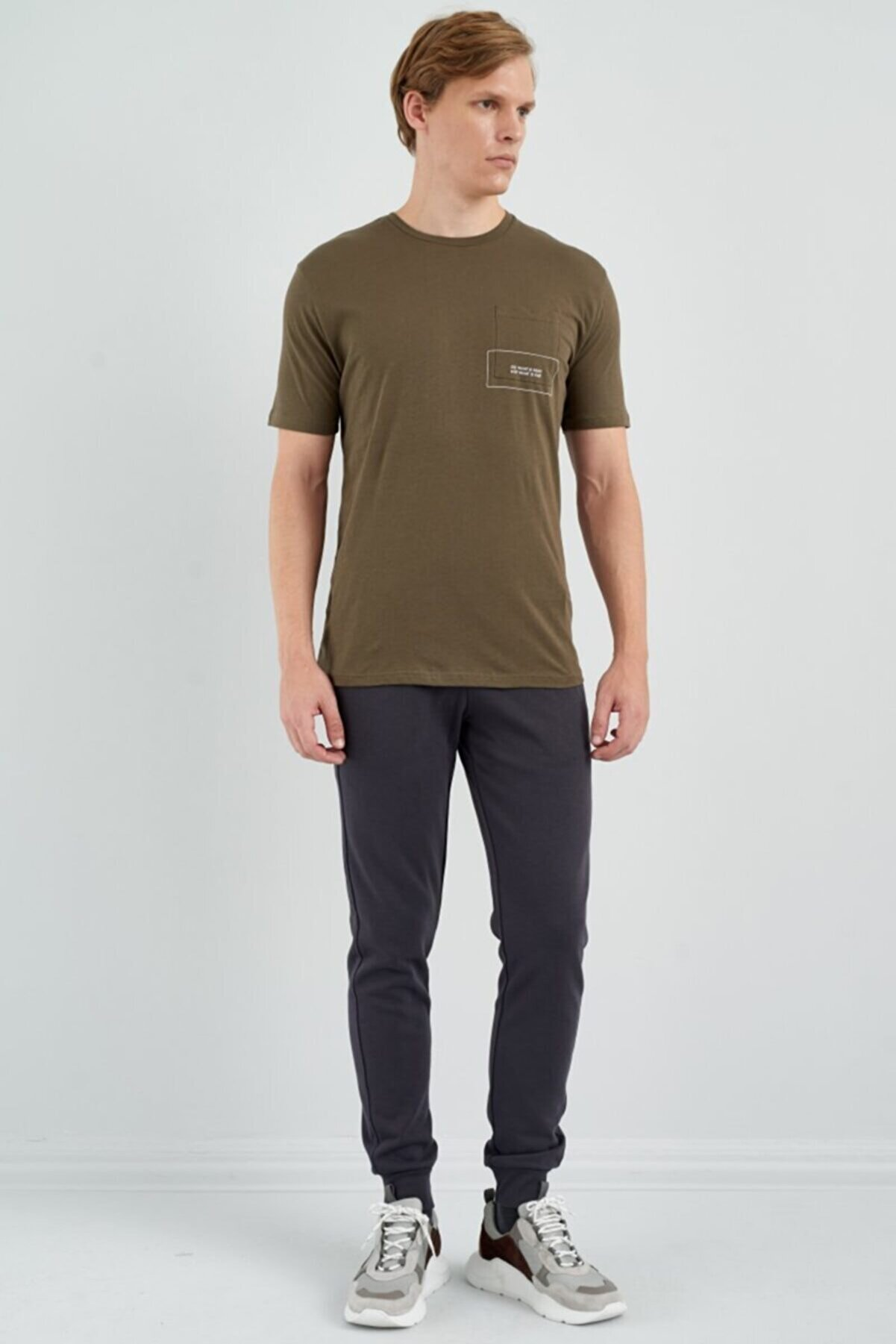 Giovane Gentile Erkek Yeşil Kısa Kollu T-shirt