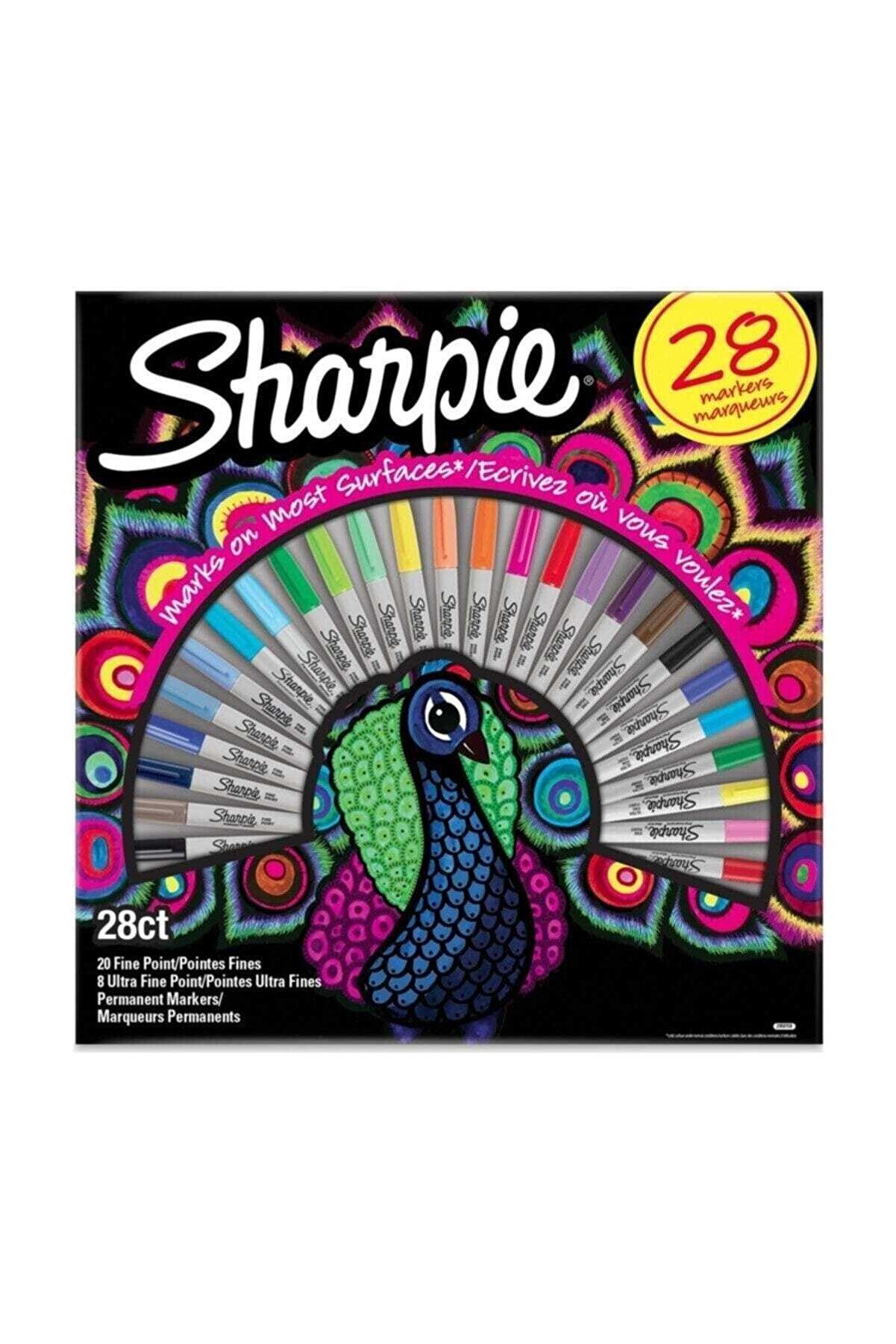Sharpie Fine Permanent Markör 28li Tavuskuşu 2058158 /