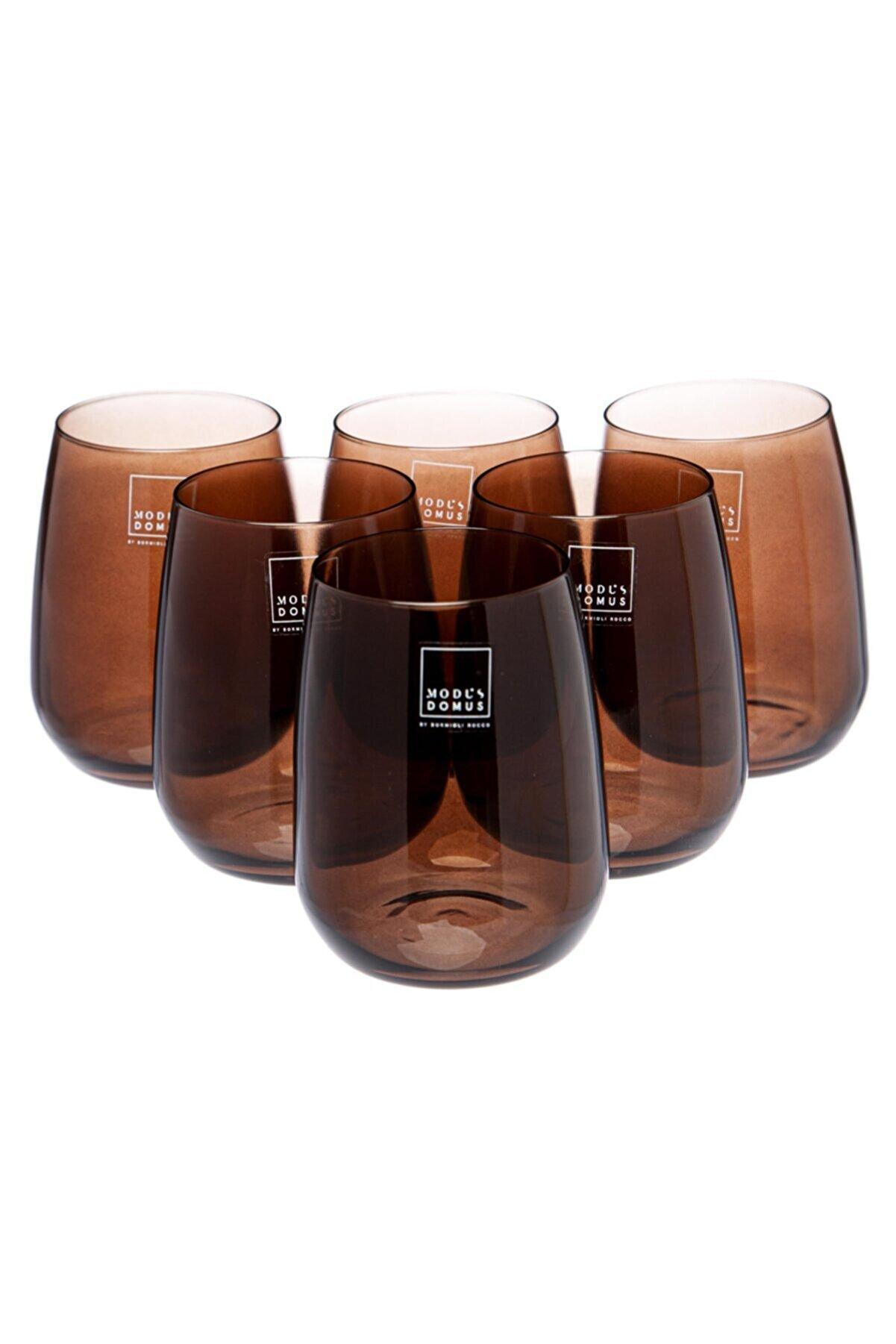 Bormioli Rocco Aqua Bardak 6 Lı Kahverengi