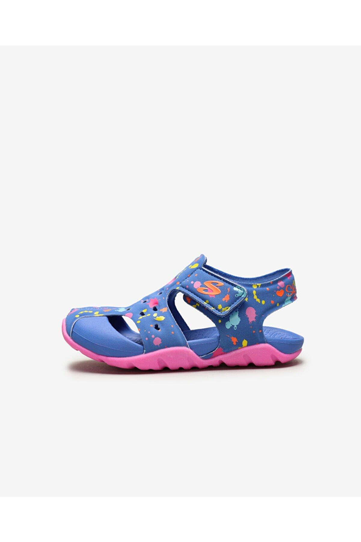 Skechers Küçük Kız Çocuk Mavi Sandalet