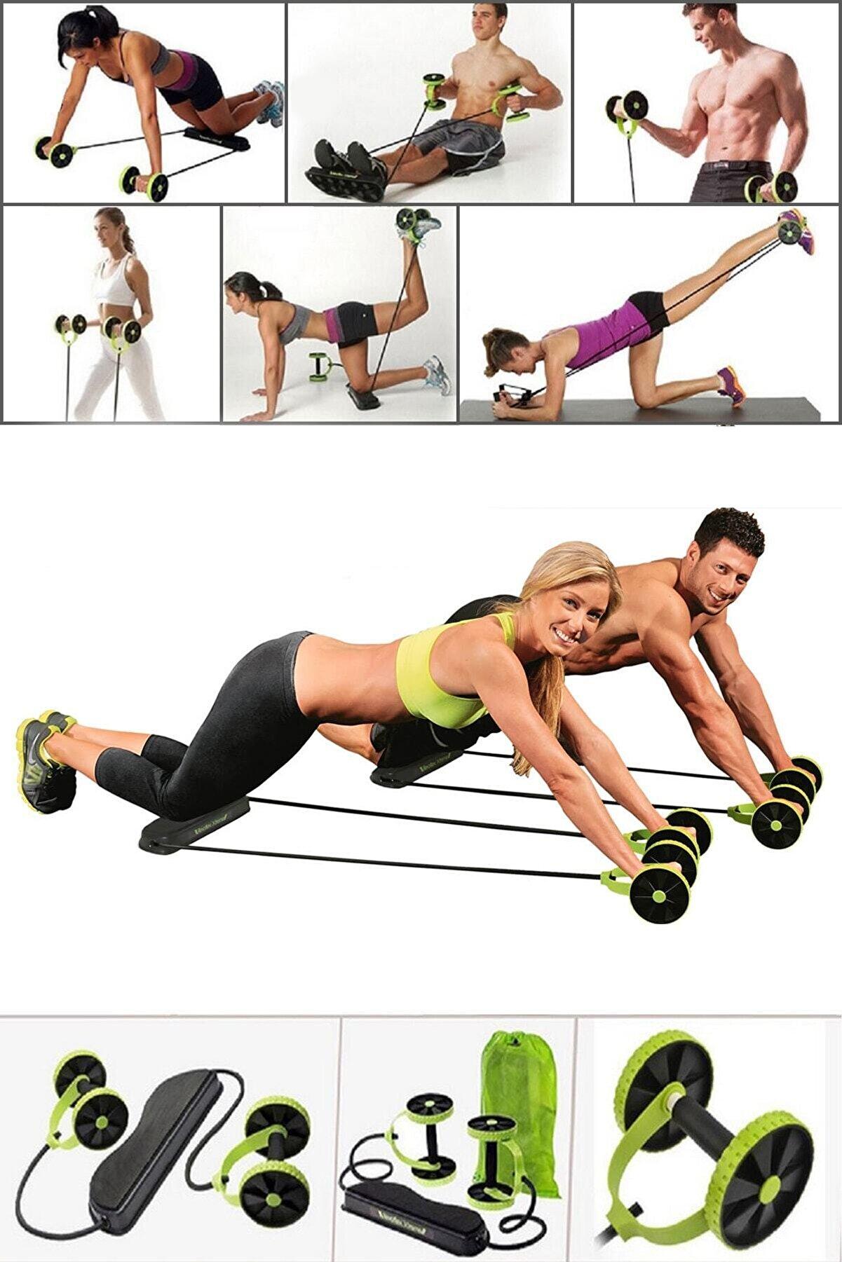 Binbirreyon Multiflex Spor Ve Egzersiz Aleti Fitness Mekik Şınav Aleti Seti Pilates Seti Ga063