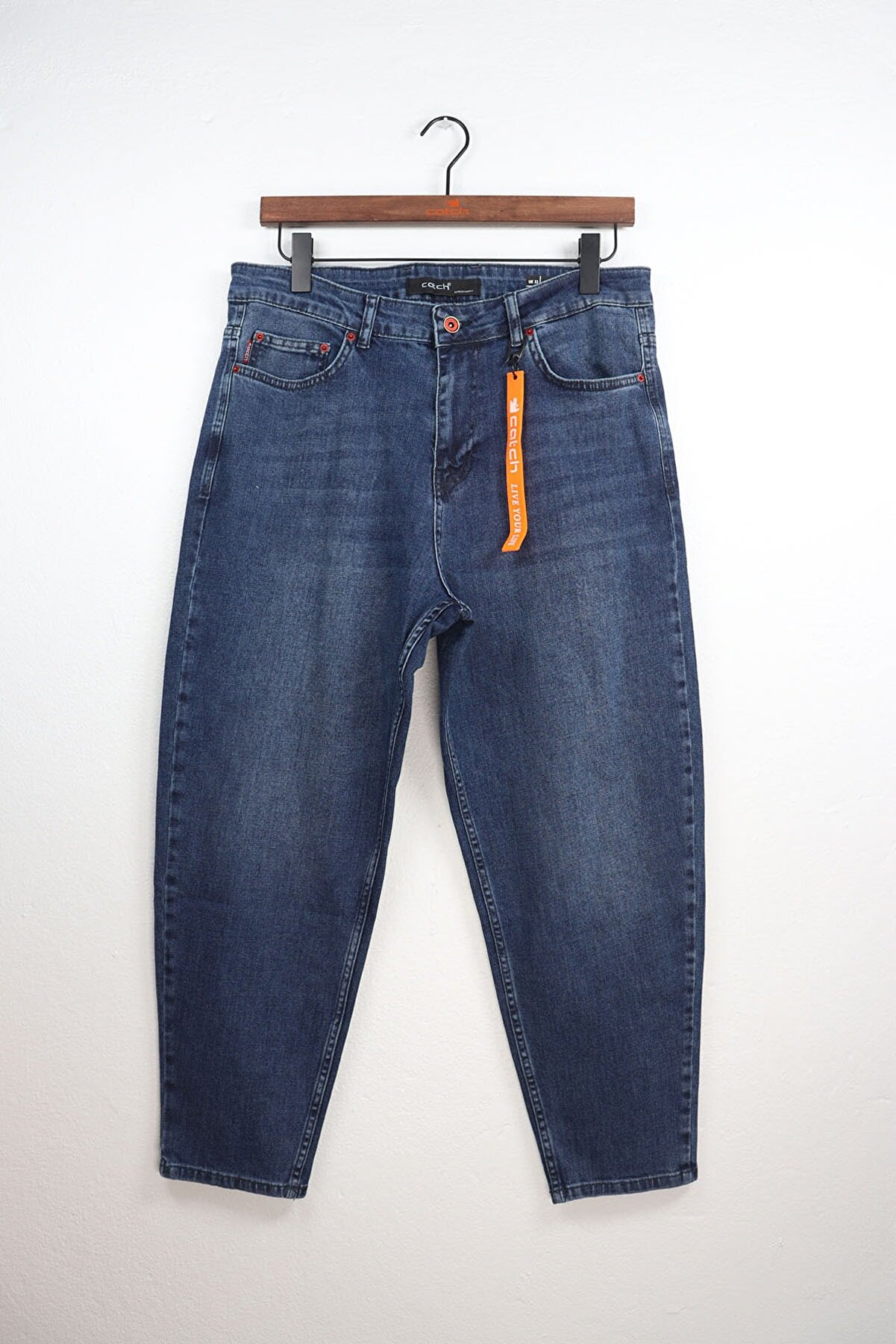 Catch Bol Kalıp Mavi Jean Pantolon 3866-g1