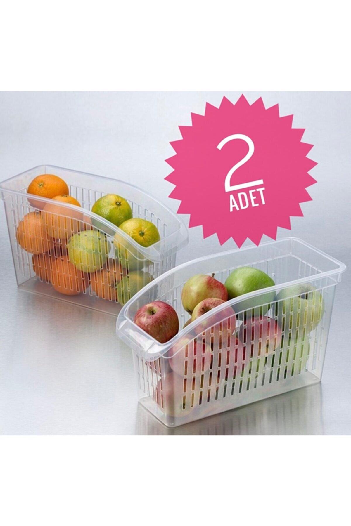 Yellowish Buzdolabı Sepeti 2adet Dolap Içi Düzenleyici Meyve Sebze Buzdolabı Düzenleyici Raf Sepeti Sebzelik