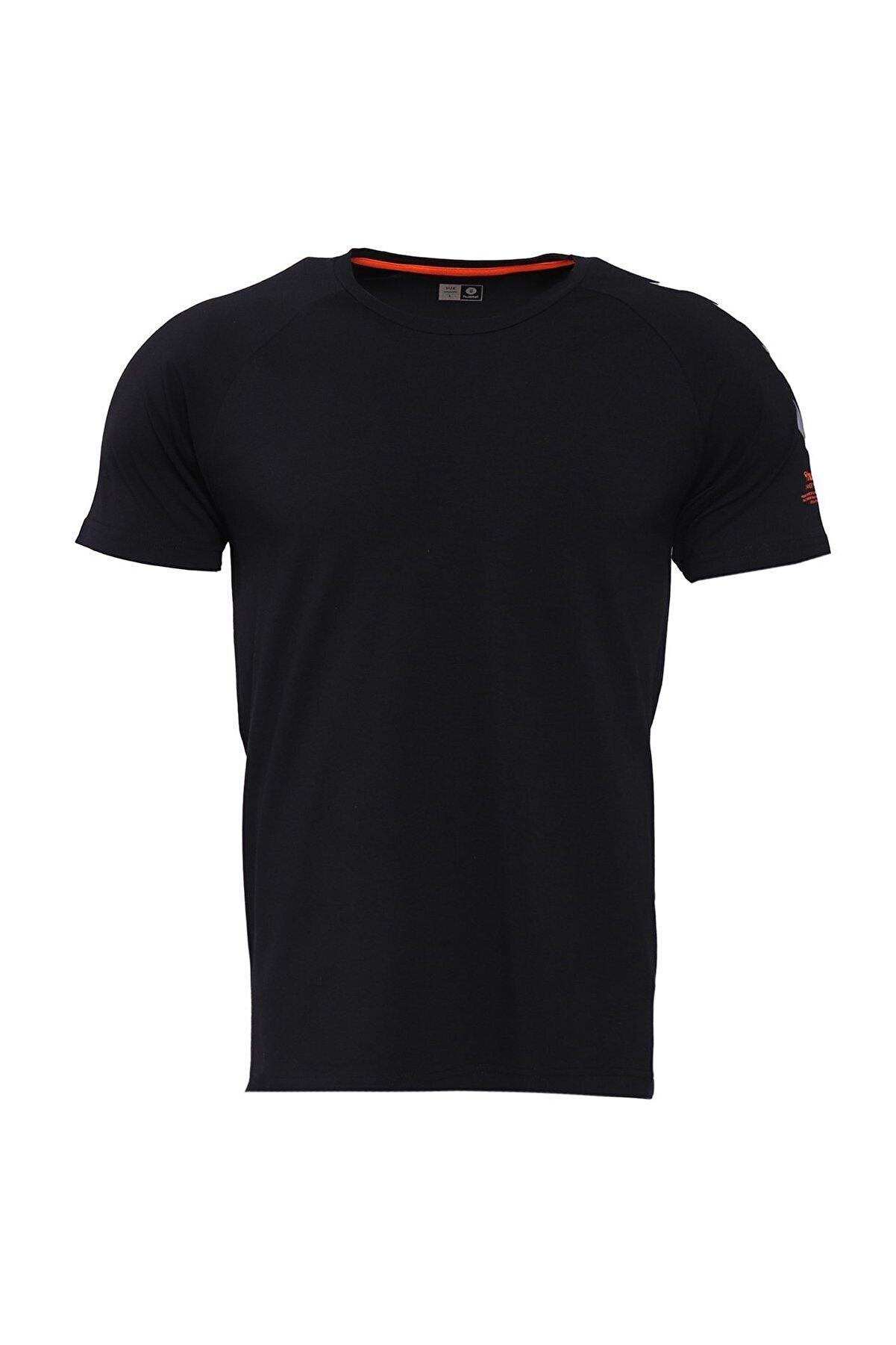 HUMMEL HMLPETTE T-SHIRT S/S Siyah Erkek T-Shirt 101086317