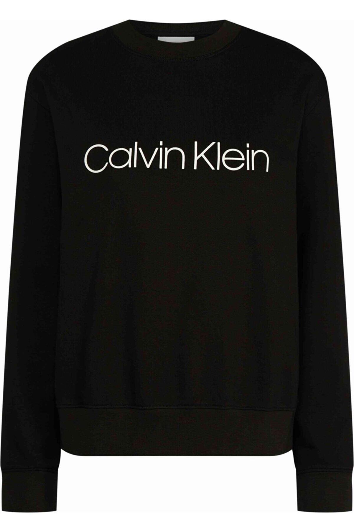 Calvin Klein Ck Kadın Sıyah Core Logo Prt Sweatshırt
