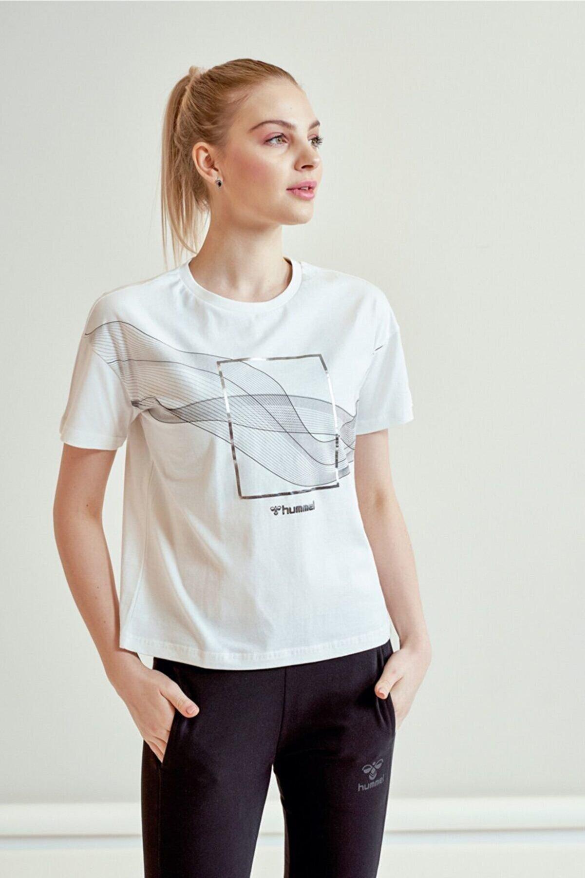 HUMMEL Digna Beyaz Kısa Kollu Kadın T-Shirt