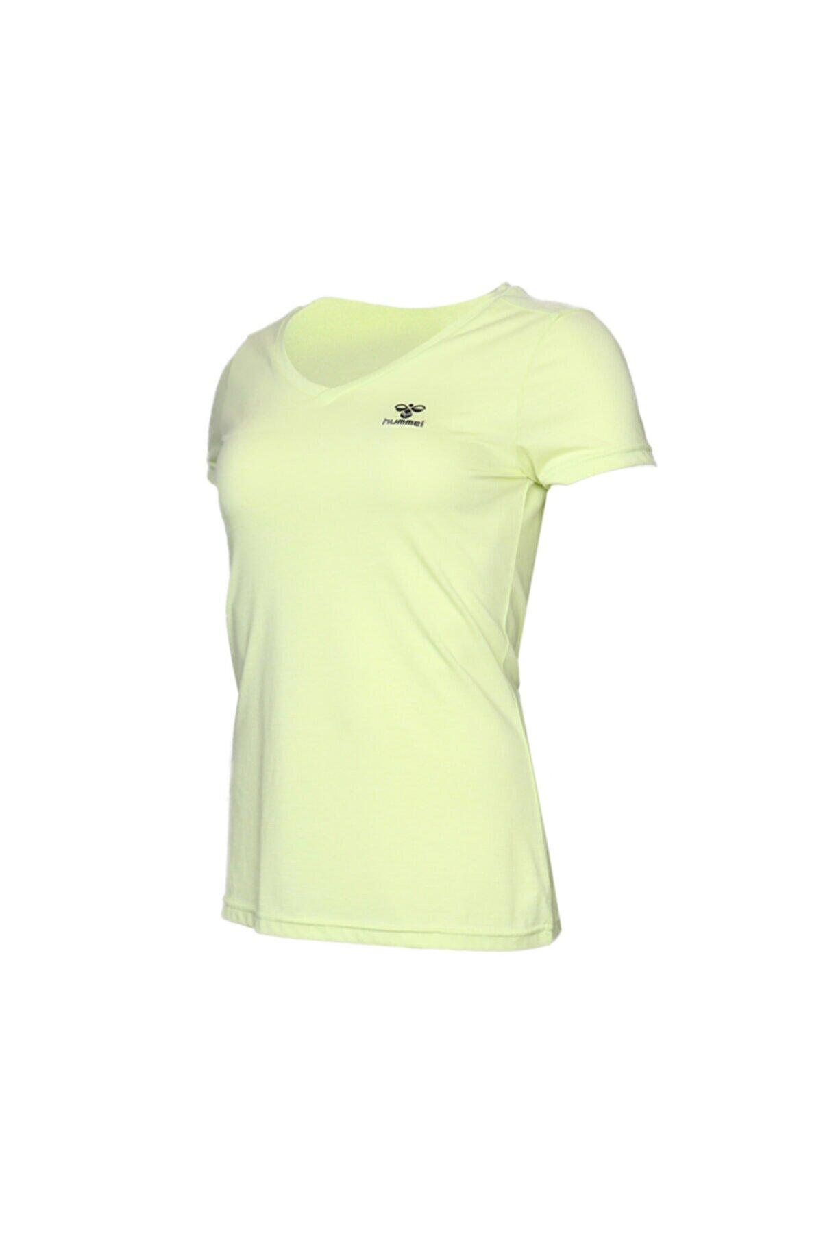 HUMMEL HMLVLORA  T-SHIRT S/S Sarı Kadın T-Shirt 100580760