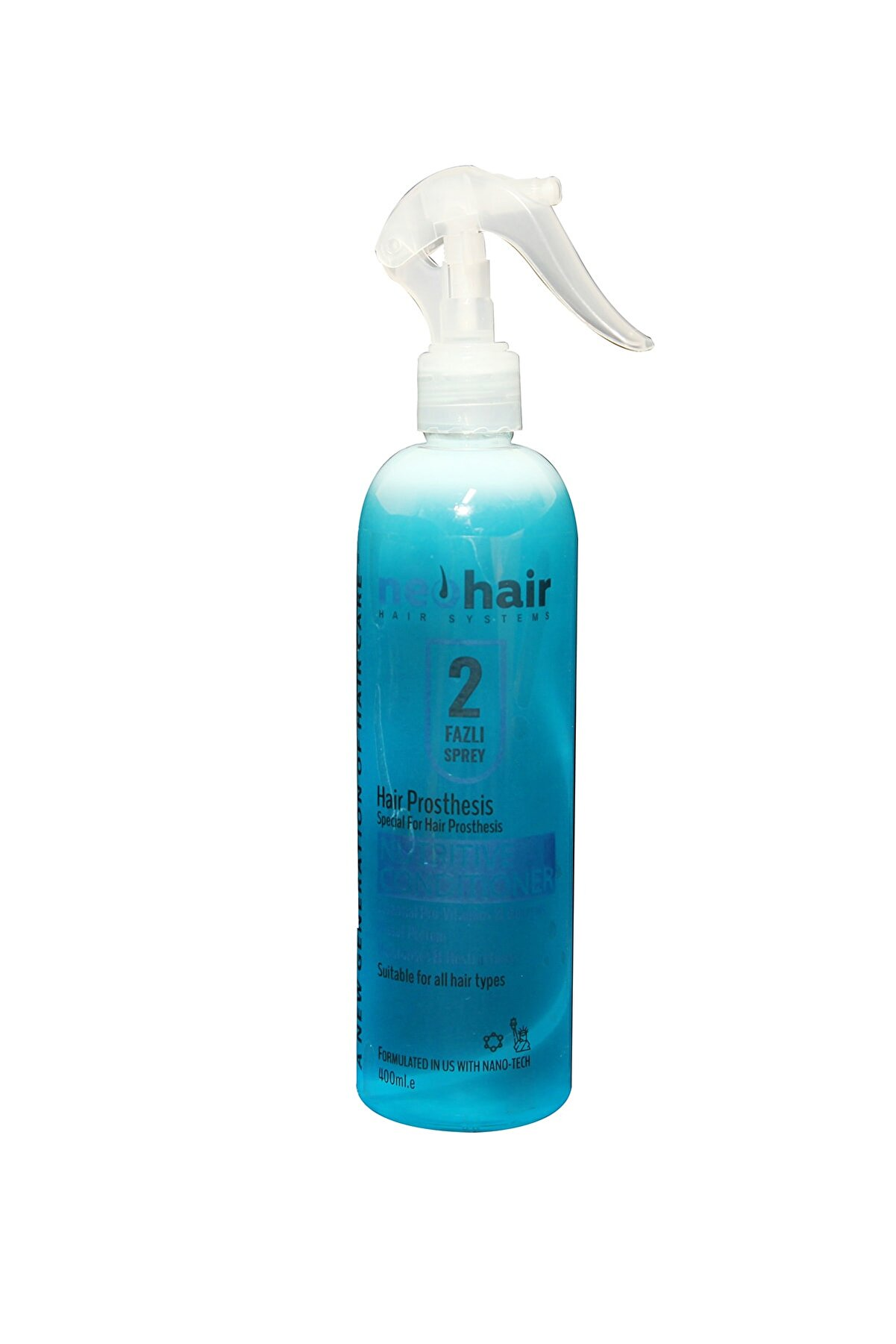 NeoHair Protez Saç Tarama Suyu Mavi Su 400 ml