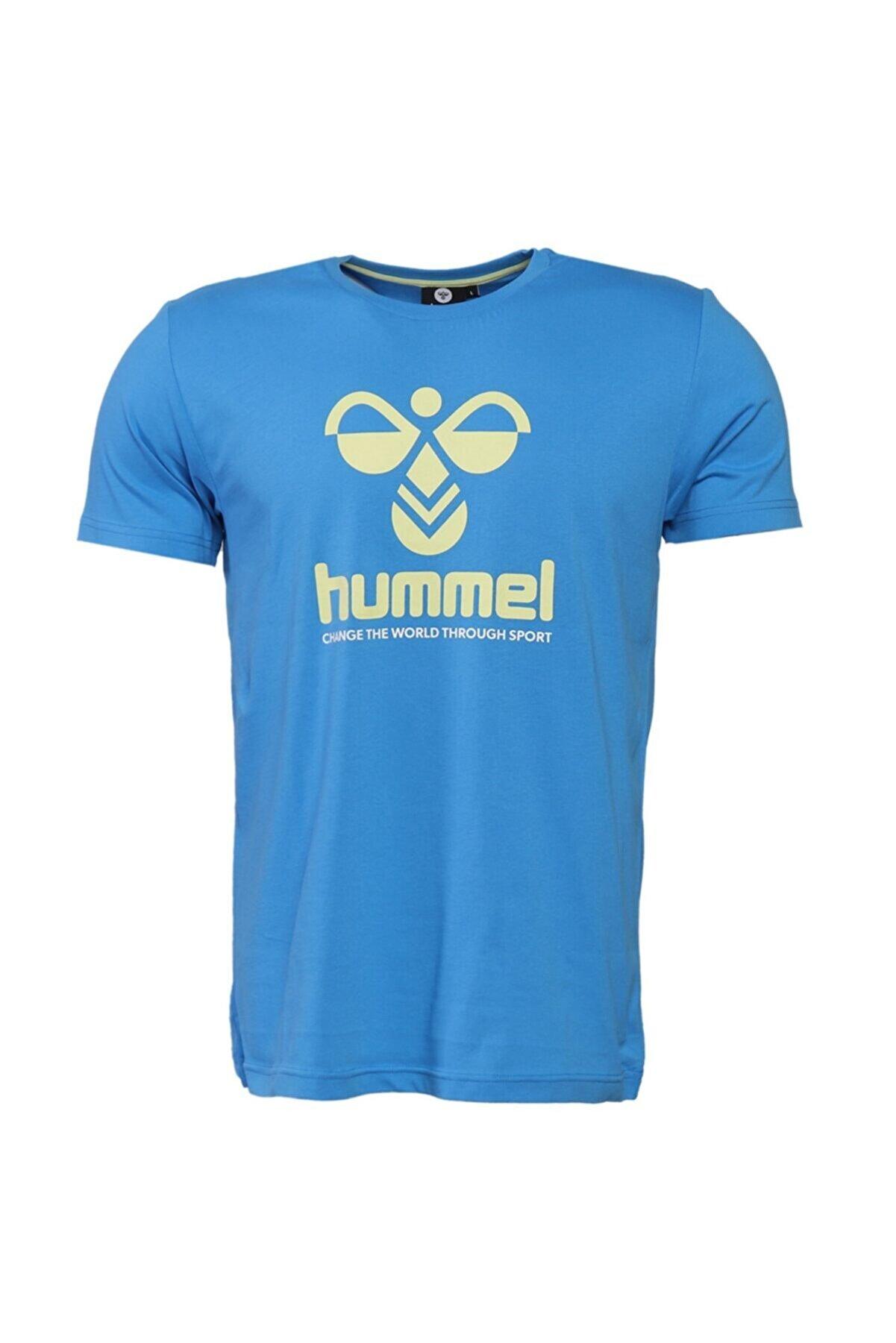 HUMMEL HMLCENTIL T-SHIRT S/S Mavi Erkek T-Shirt 101086299