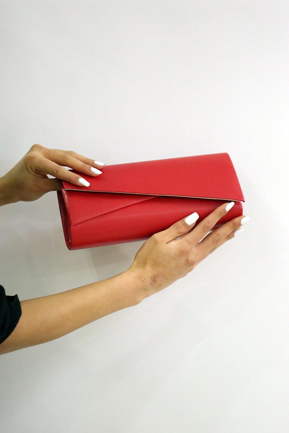 WMİLANO Kadın Kırmızı Mat Abiye Çanta