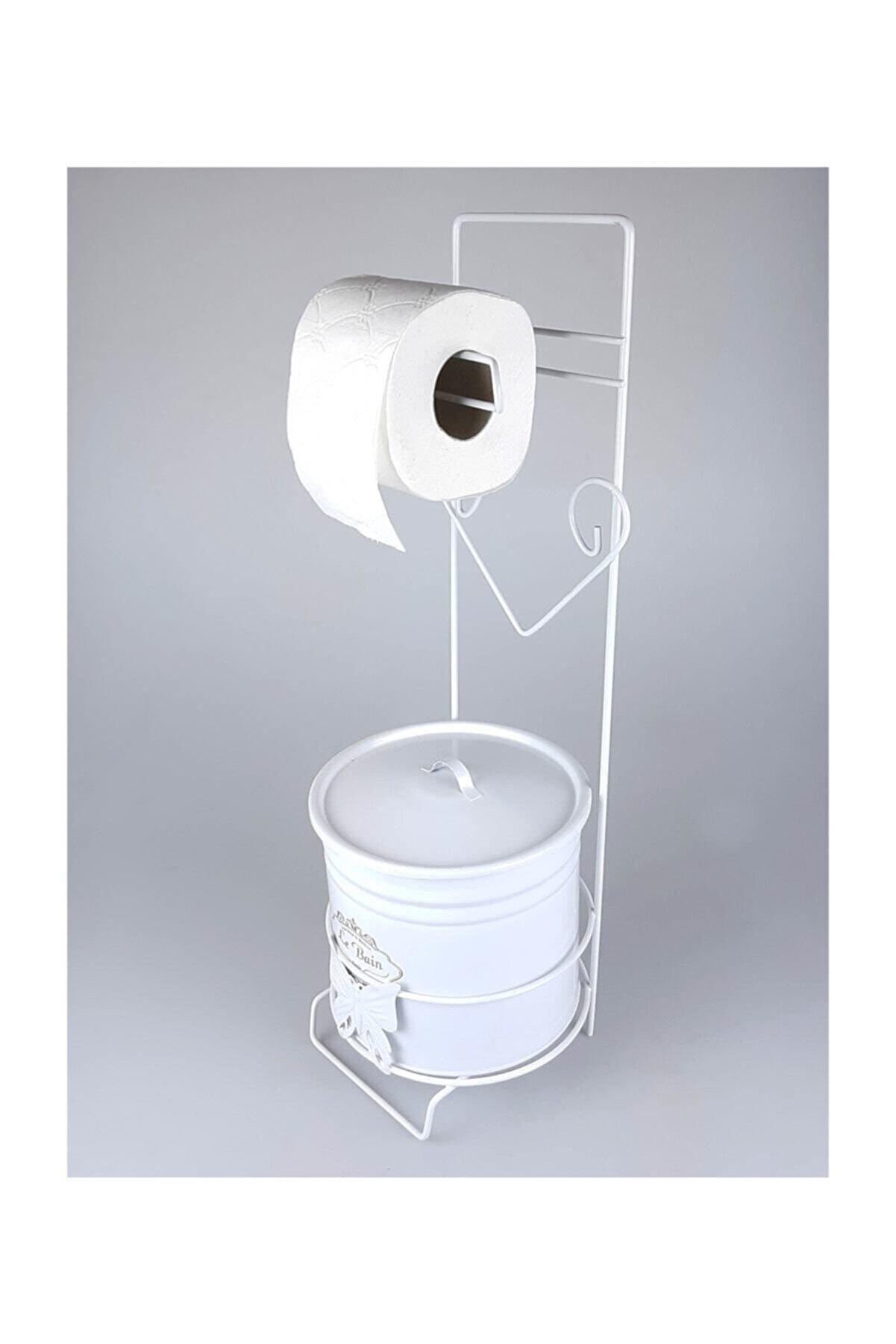 Betsy Wc Kağıtlık Çöp Kovalı Ferforje , Tuvalet Kağıtlığı , Banyo Çöp Kovası