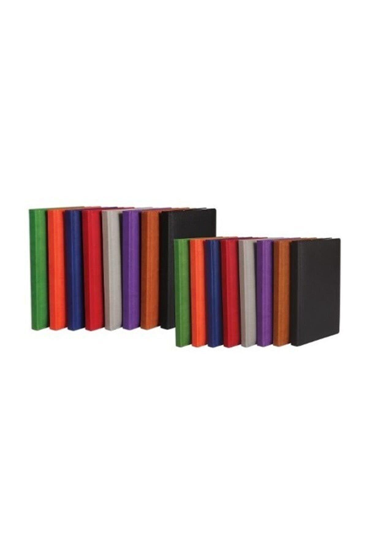 Keskin Color Ciltli Termo Deri Defter Karışık Renk (Asorti) 14x20cm 160 Yaprak Çizgili
