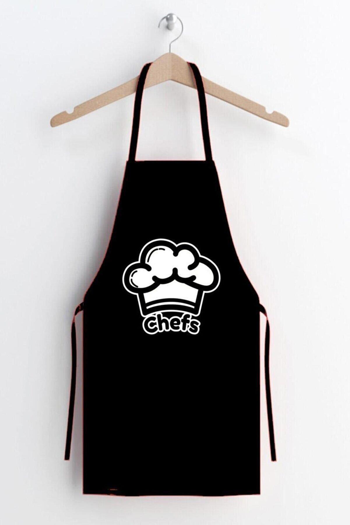 AYSHOME Chefs Desen Leke Tutmaz Mutfak Önlüğü