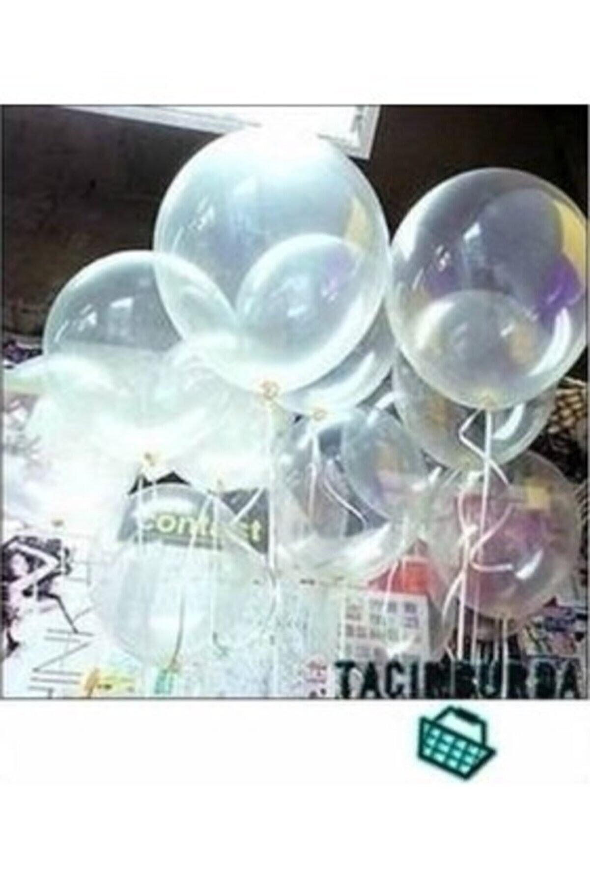 TATLI GÜNLER Partiniseç 25 Adet Parlak Şeffaf Balonlar Helyumla Uçan Özelliktedir