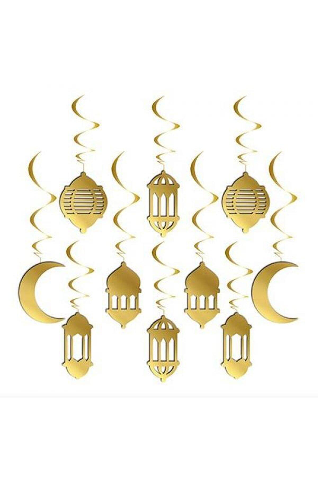 Huzur Party Store 10 lu Gold 3D Tavan Süs Hoşgeldin Kurban Bayramı 11 Ayın Sultanı Temalı Sarkıt Dini İslami Süsü