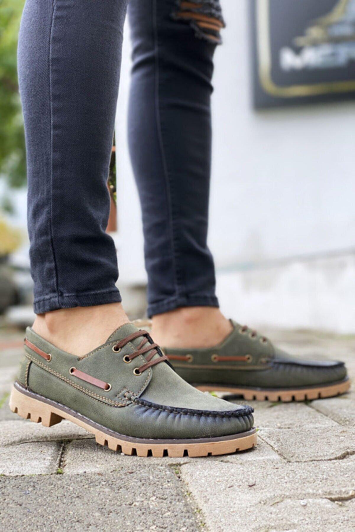 BIG KING Bağcıklı Yeşil Klasik Ayakkabı